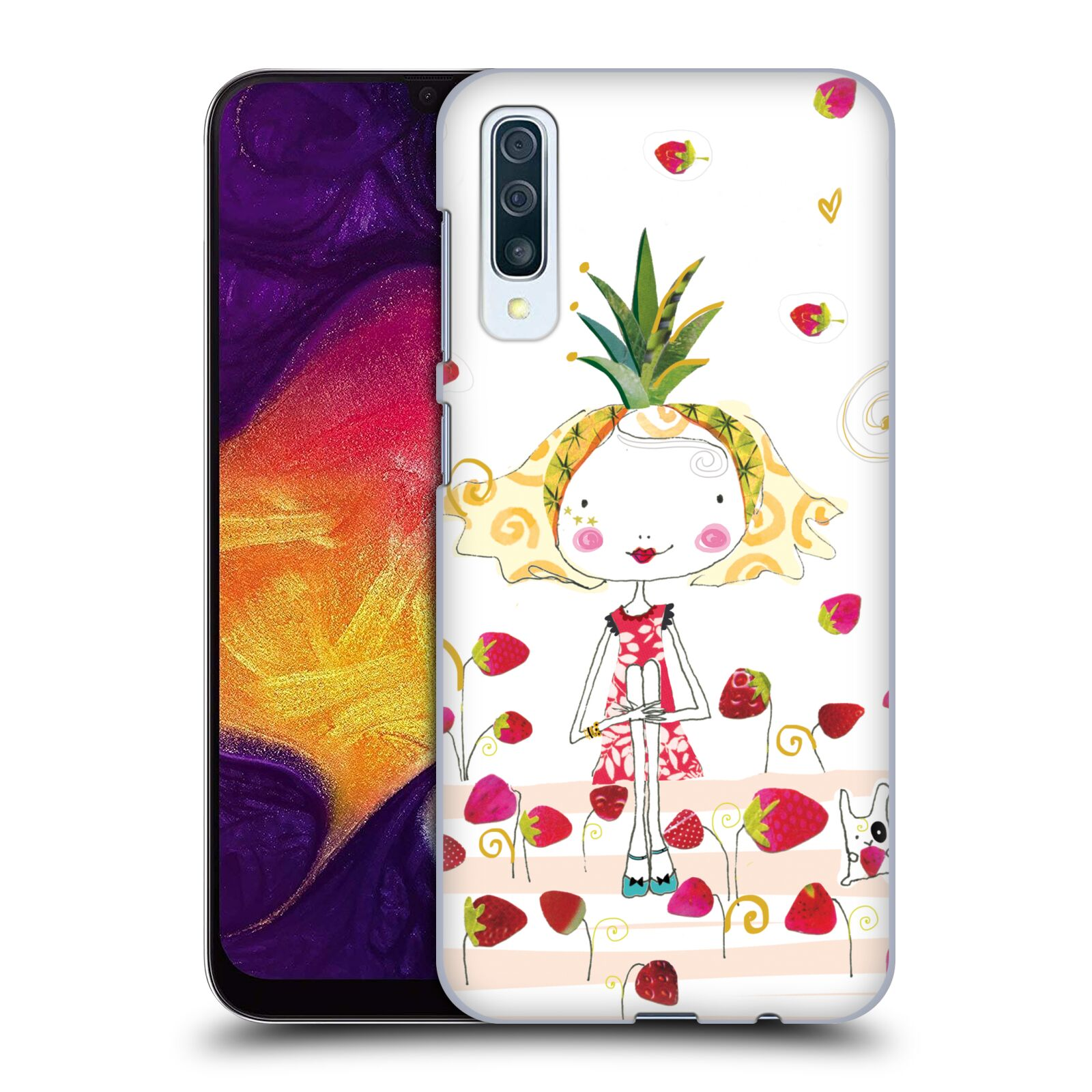 Official Turnowsky Tangerine Zebra Strawberry Fun Case for Samsung Galaxy A50s (2019)