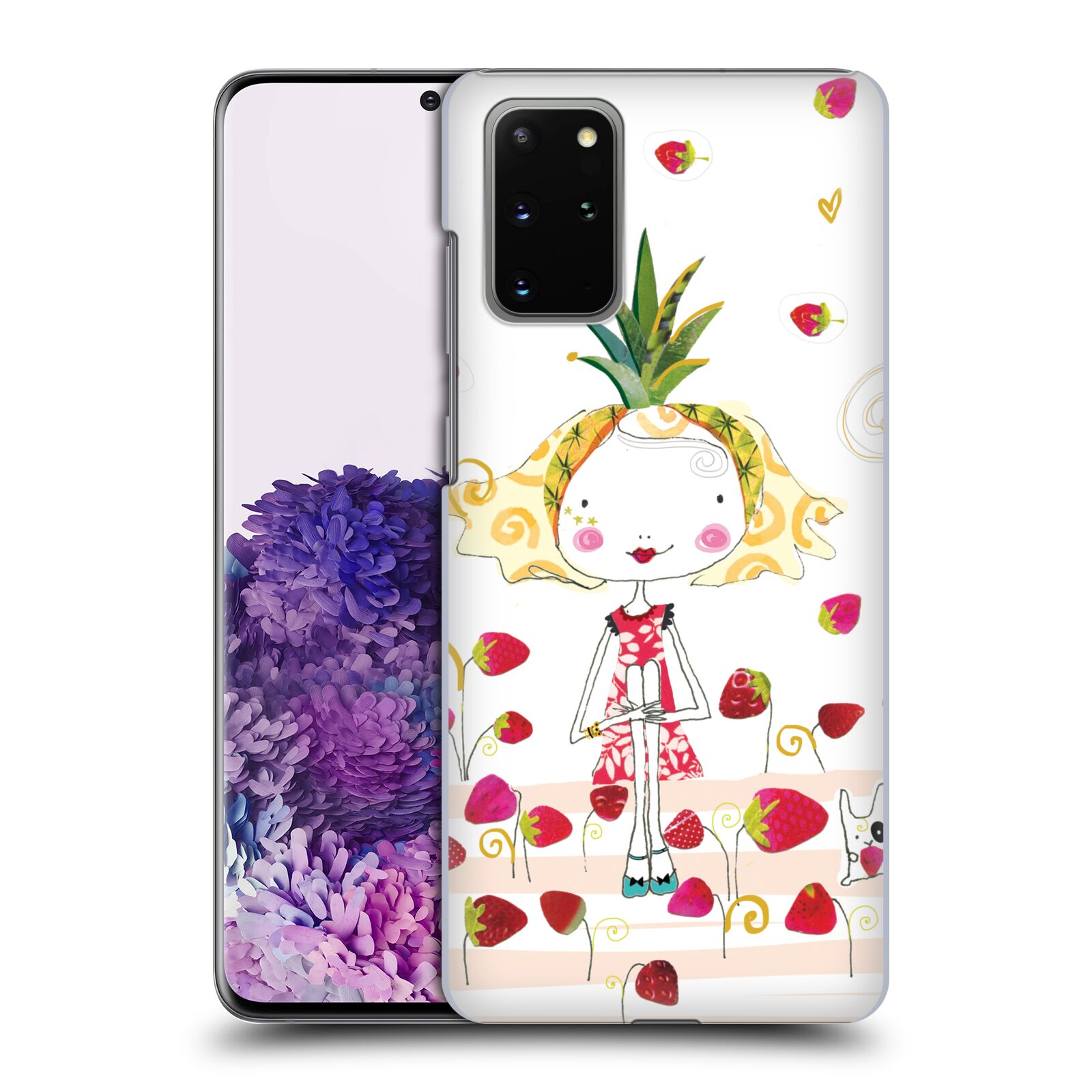 Official Turnowsky Tangerine Zebra Strawberry Fun Case for Samsung Galaxy S20+ / S20+ 5G