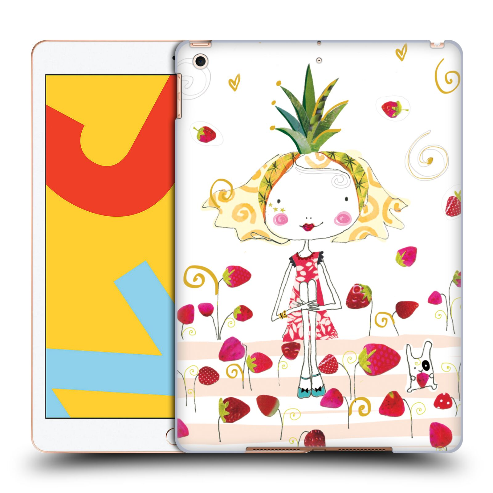 Official Turnowsky Tangerine Zebra Strawberry Fun Case for Apple iPad 10.2 (2019)