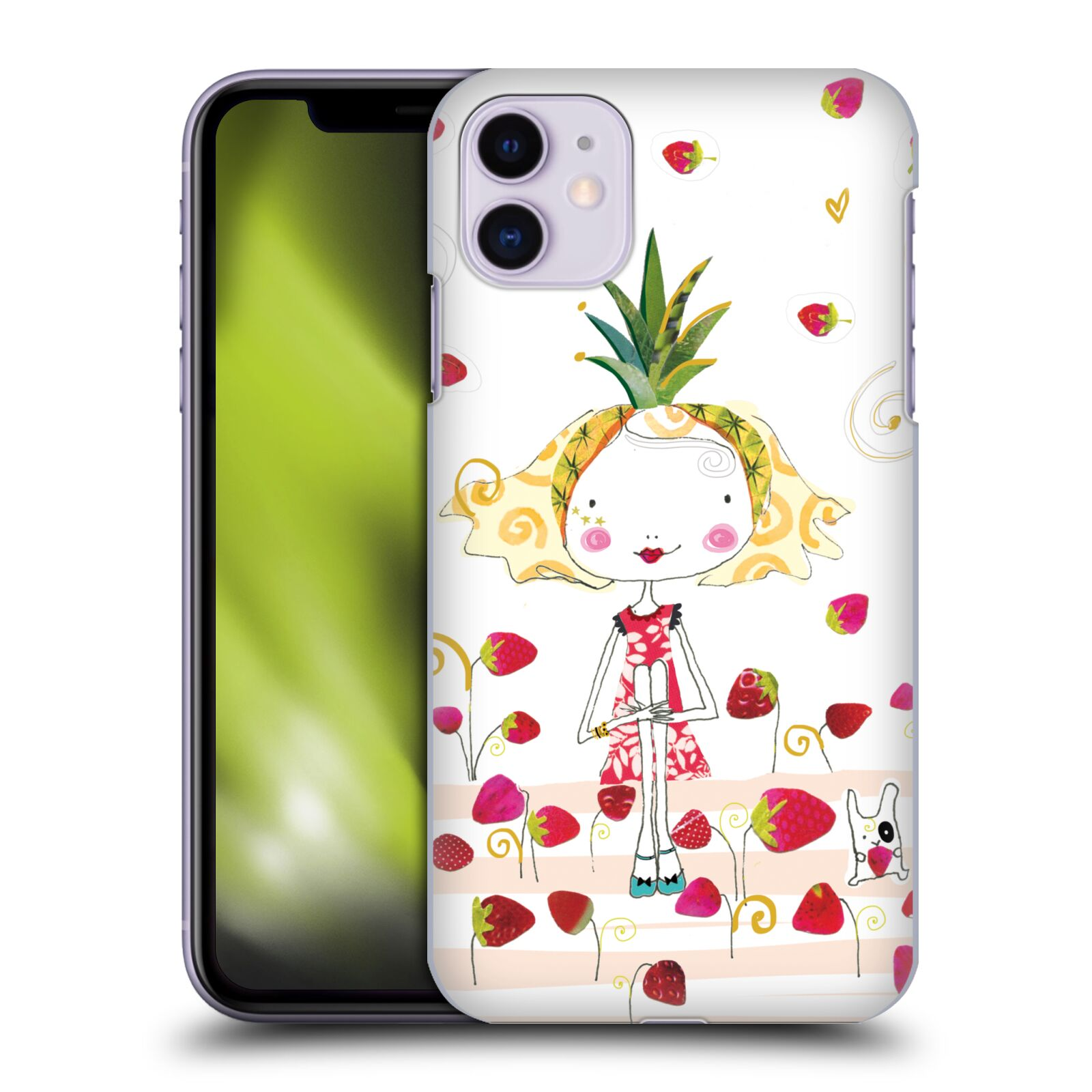 Official Turnowsky Tangerine Zebra Strawberry Fun Case for Apple iPhone 11