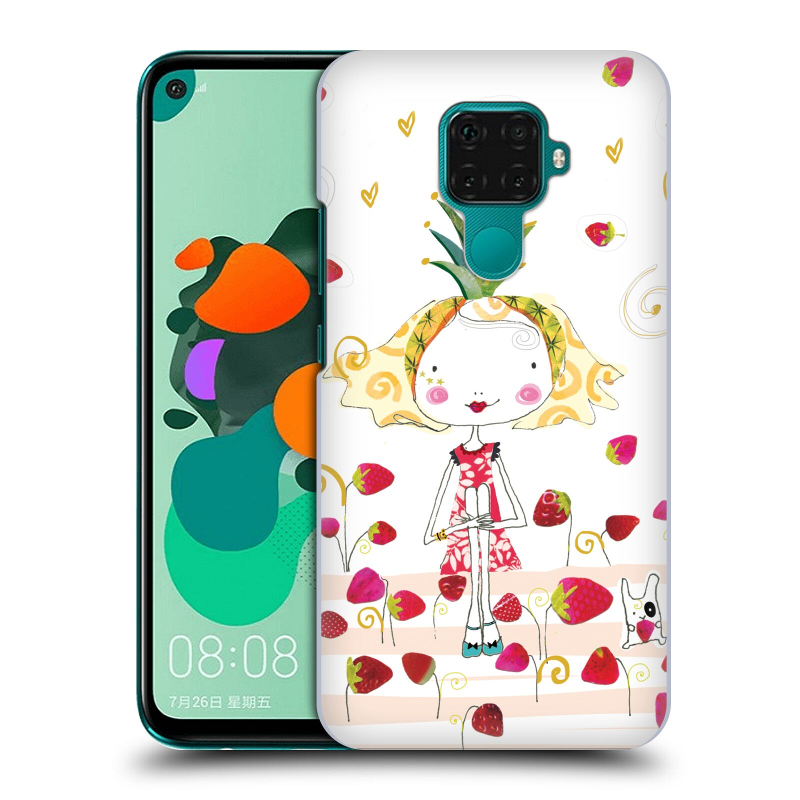 Official Turnowsky Tangerine Zebra Strawberry Fun Case for Huawei Nova 5i Pro/Mate 30 Lite