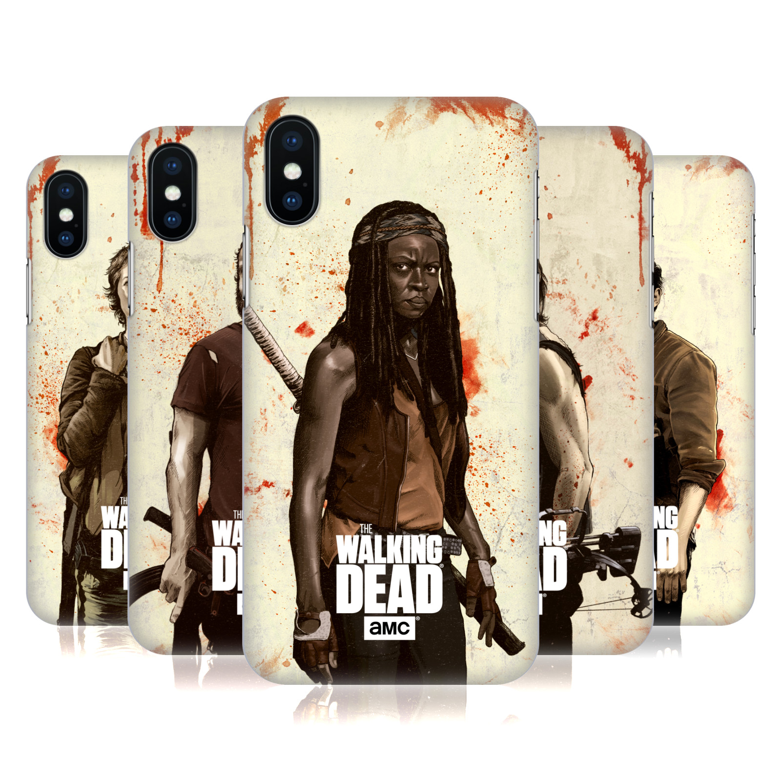 Official AMC The Walking Dead Distressed Illustrations
