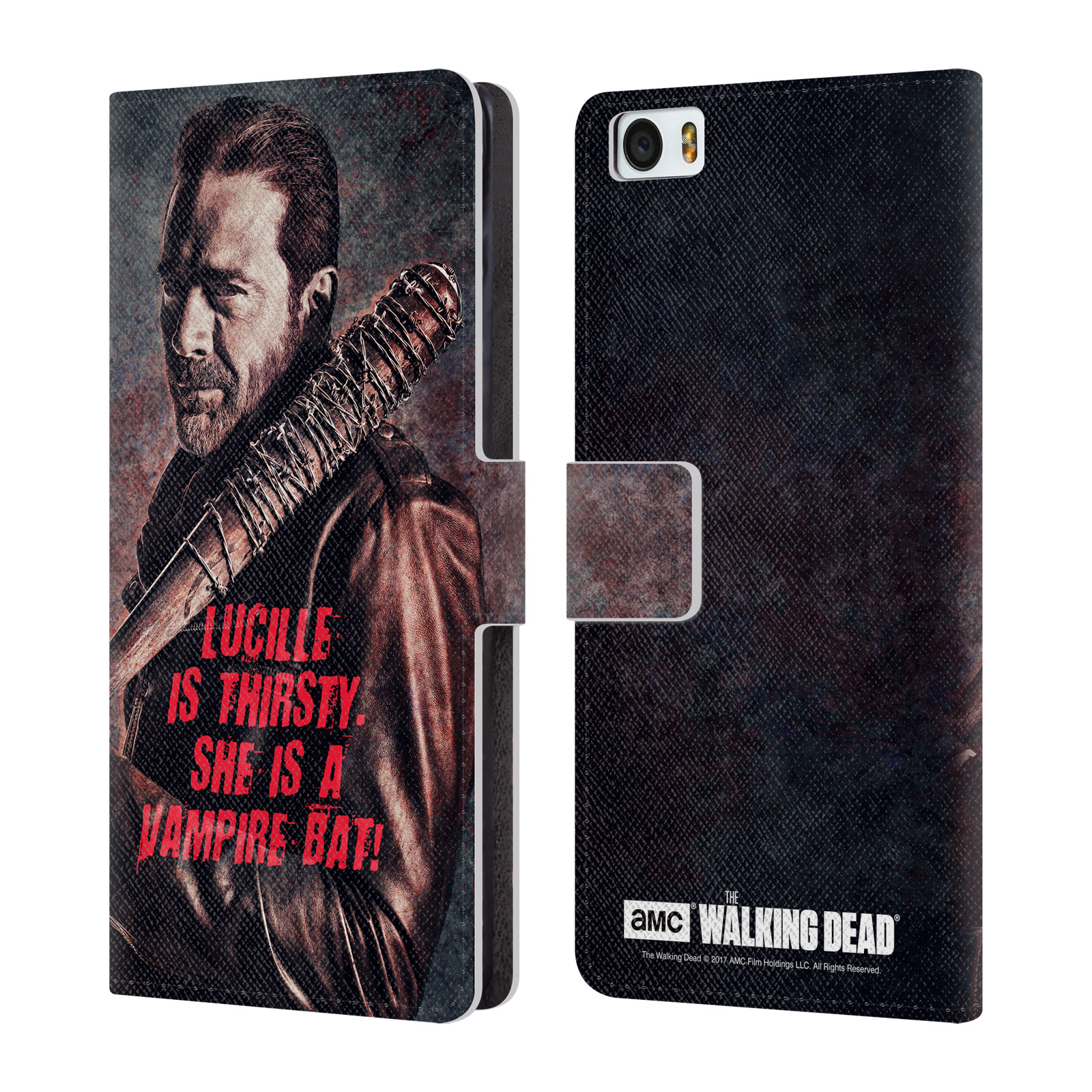 OFFICIAL-AMC-THE-WALKING-DEAD-NEGAN-LEATHER-BOOK-WALLET-CASE-FOR-XIAOMI-PHONES