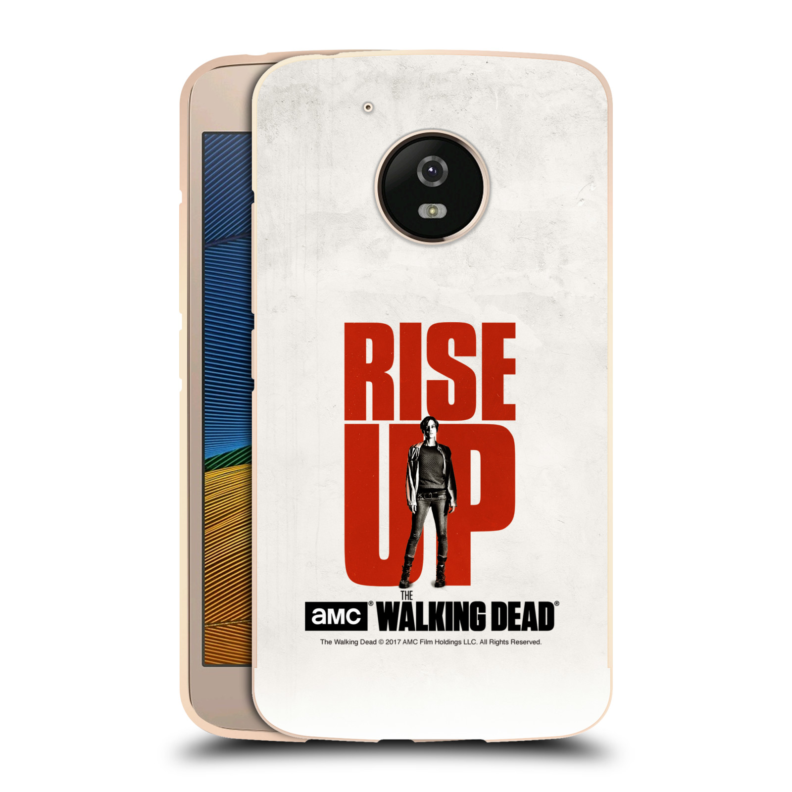 AMC-THE-WALKING-DEAD-RISE-UP-GOLD-METALLIC-ALUMINIUM-BUMPER-FOR-MOTOROLA-PHONES