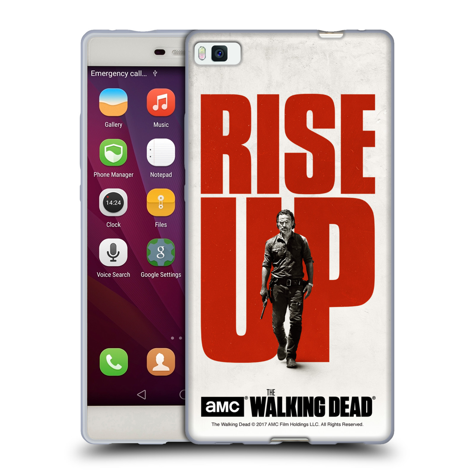 UFFICIALE-AMC-THE-WALKING-DEAD-ALZARSI-COVER-MORBIDA-IN-GEL-PER-HUAWEI-TELEFONI