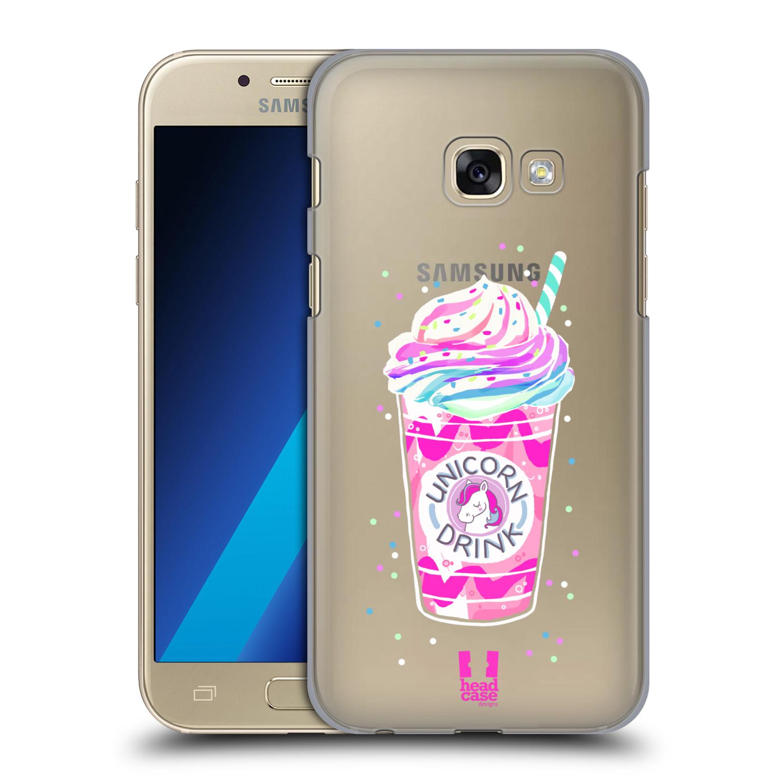 Plastové pouzdro na mobil Samsung Galaxy A3 (2017) - Head Case - Unicorn drink