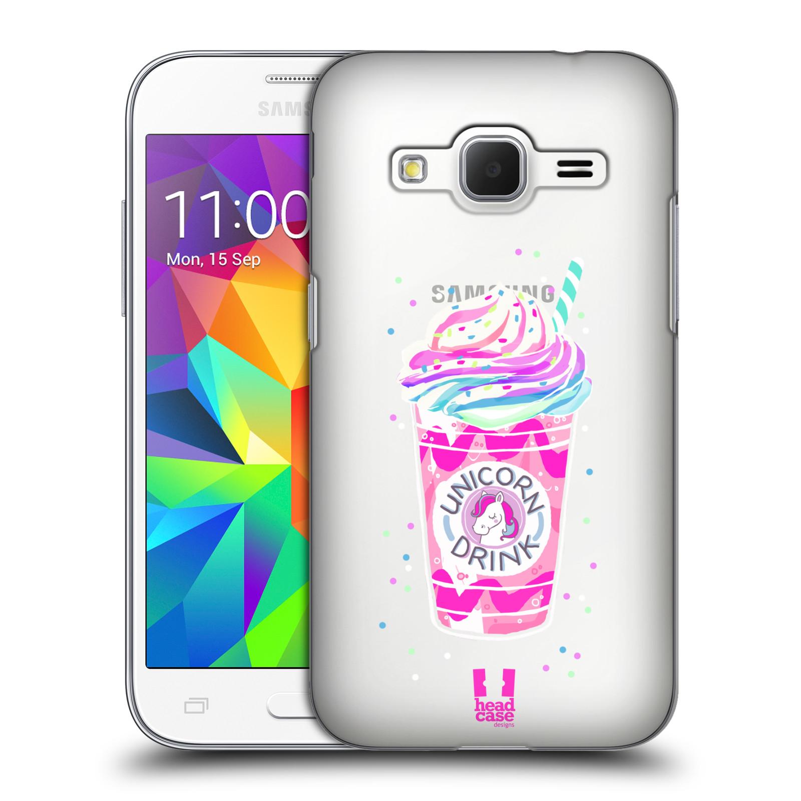 Plastové pouzdro na mobil Samsung Galaxy Core Prime LTE - Head Case - Unicorn drink