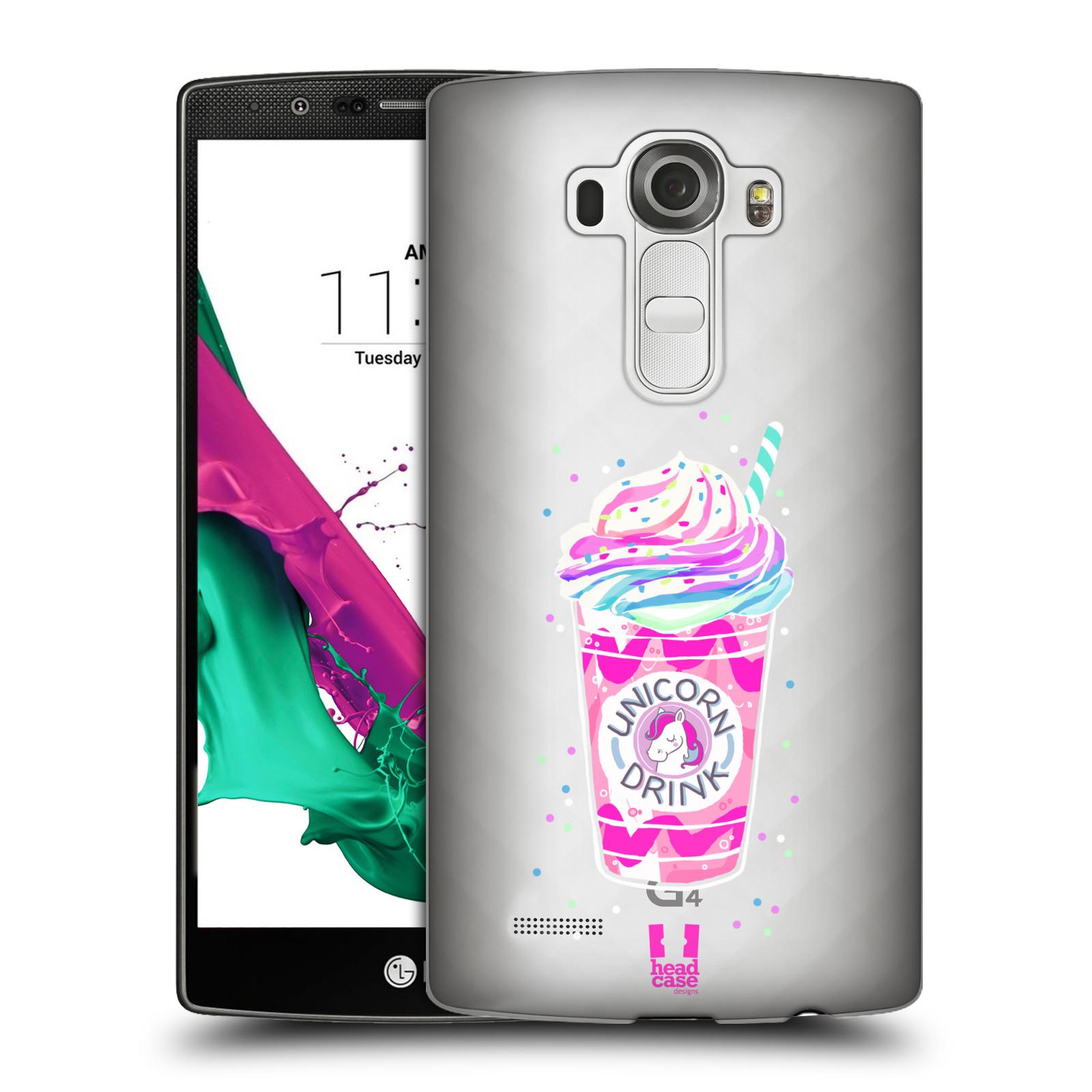 Plastové pouzdro na mobil LG G4 - Head Case - Unicorn drink