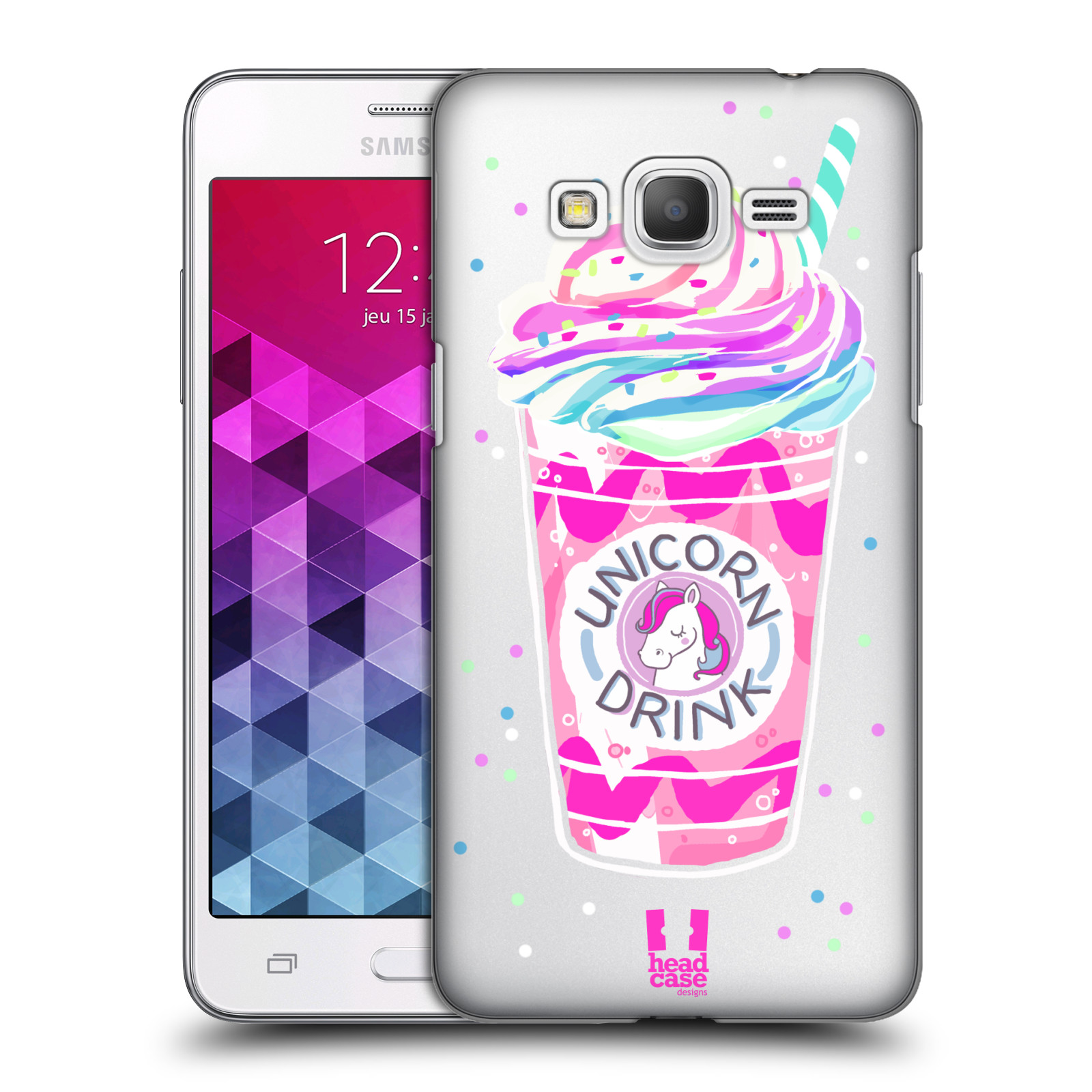 Plastové pouzdro na mobil Samsung Galaxy Grand Prime VE - Head Case - Unicorn drink