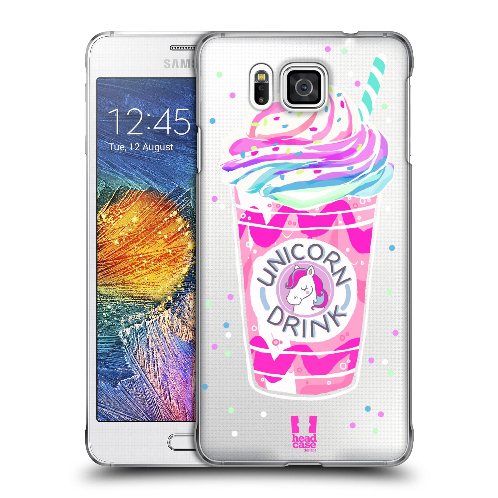 Plastové pouzdro na mobil Samsung Galaxy Alpha - Head Case - Unicorn drink