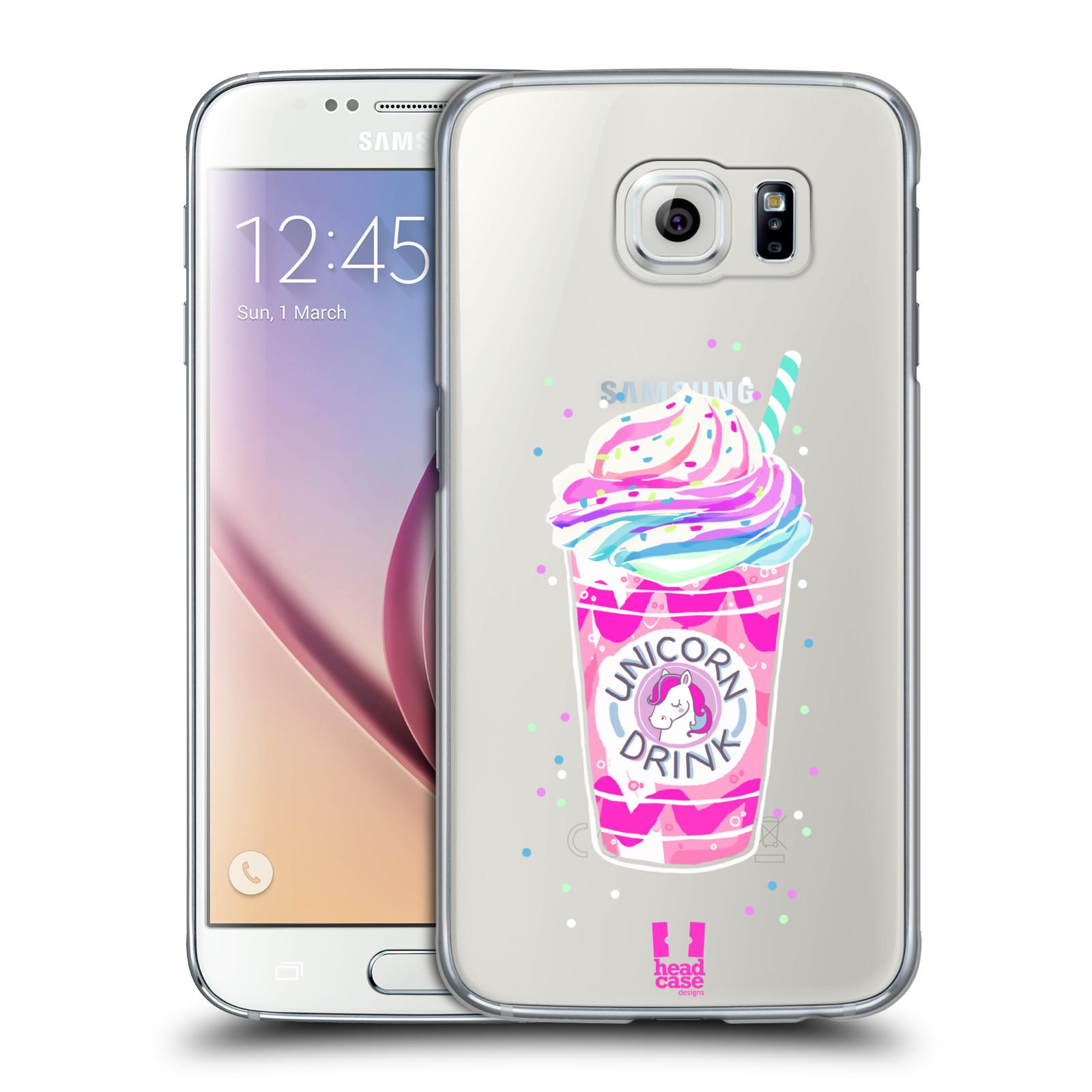 Plastové pouzdro na mobil Samsung Galaxy S6 - Head Case - Unicorn drink