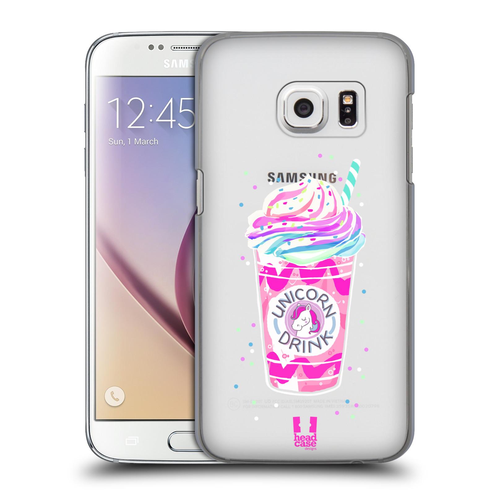 Plastové pouzdro na mobil Samsung Galaxy S7 - Head Case - Unicorn drink