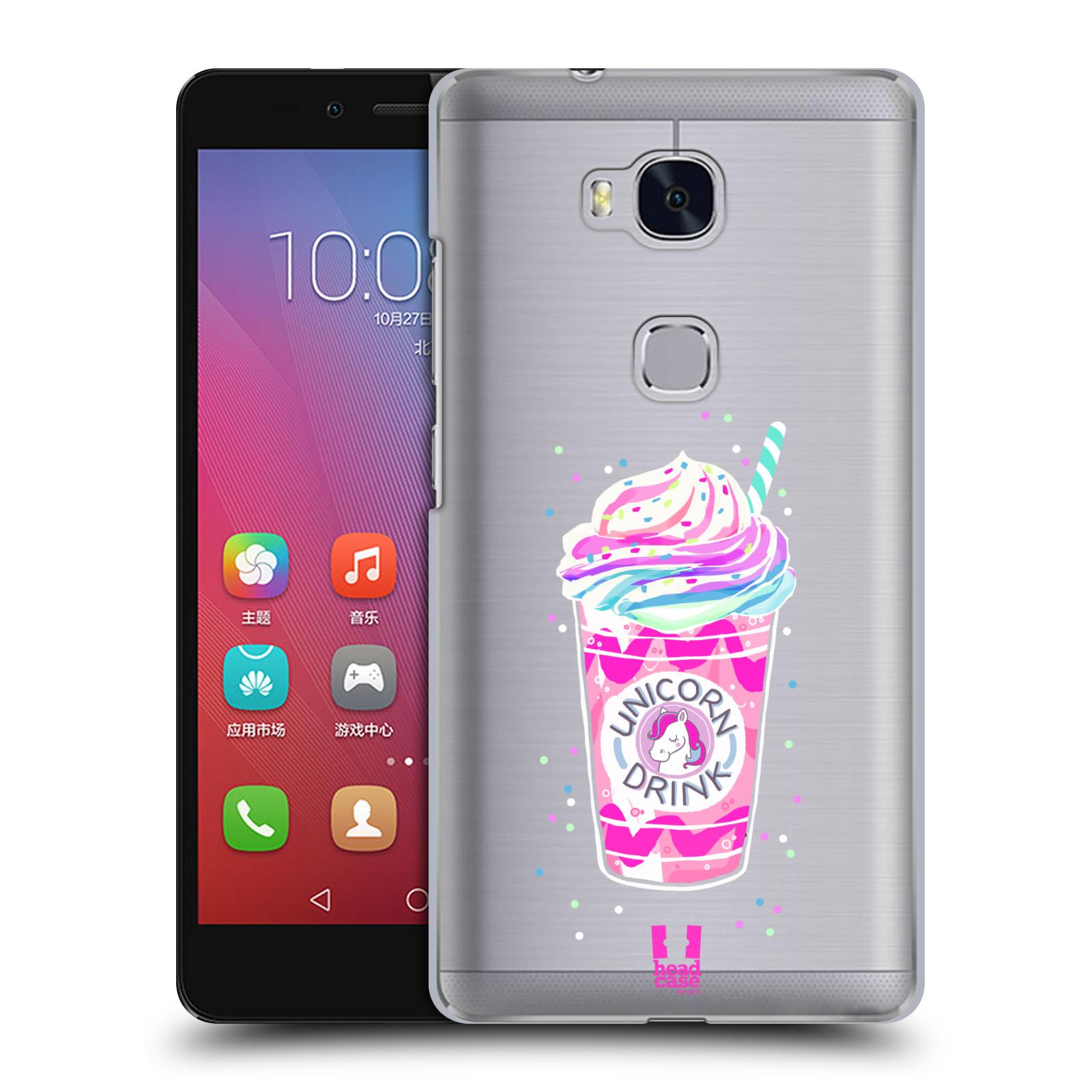 Plastové pouzdro na mobil Honor 5X - Head Case - Unicorn drink