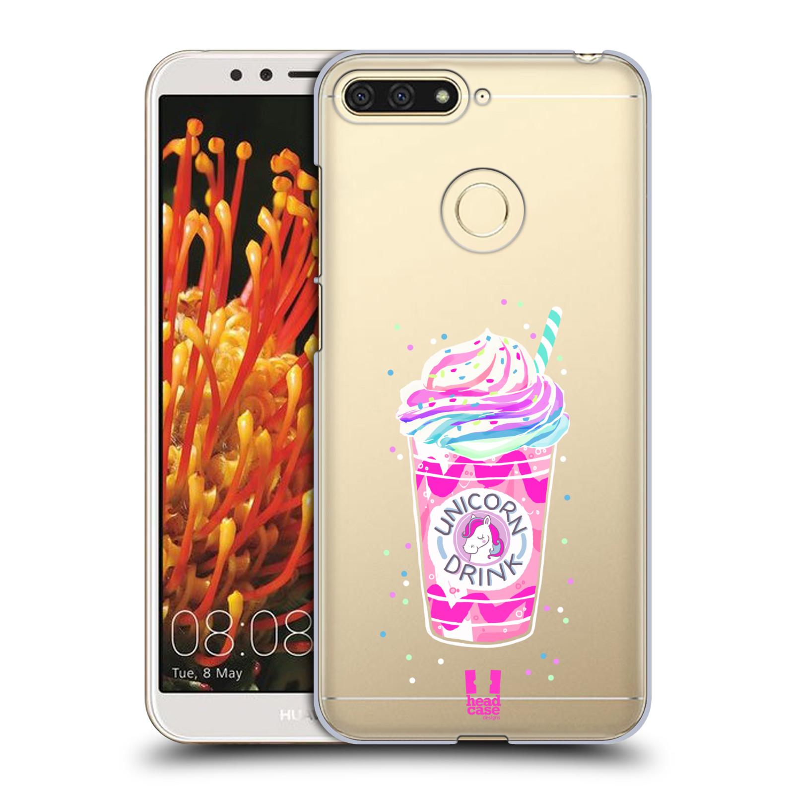 Plastové pouzdro na mobil Honor 7A - Head Case - Unicorn drink