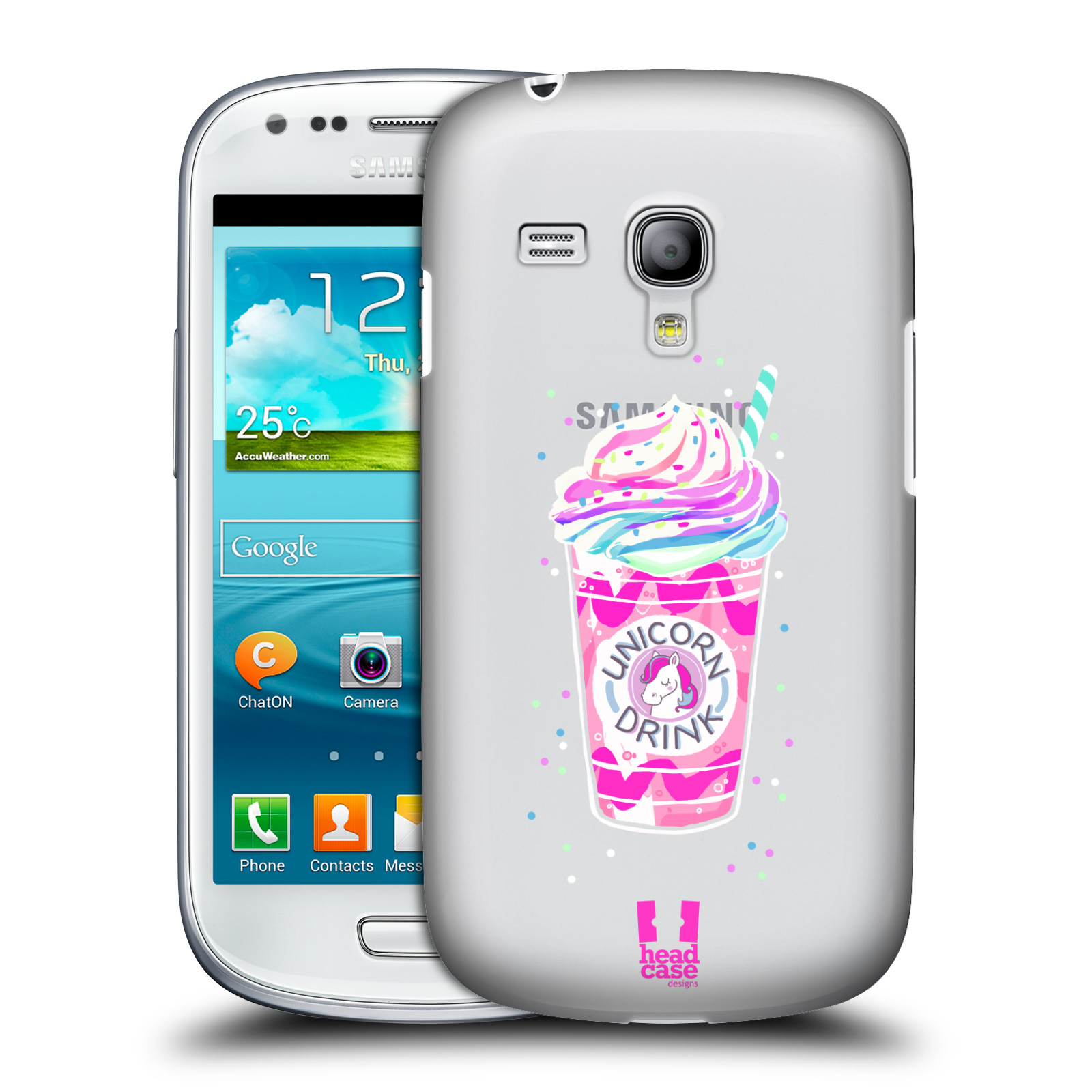 Silikonové pouzdro na mobil Samsung Galaxy S III Mini VE - Head Case - Unicorn drink