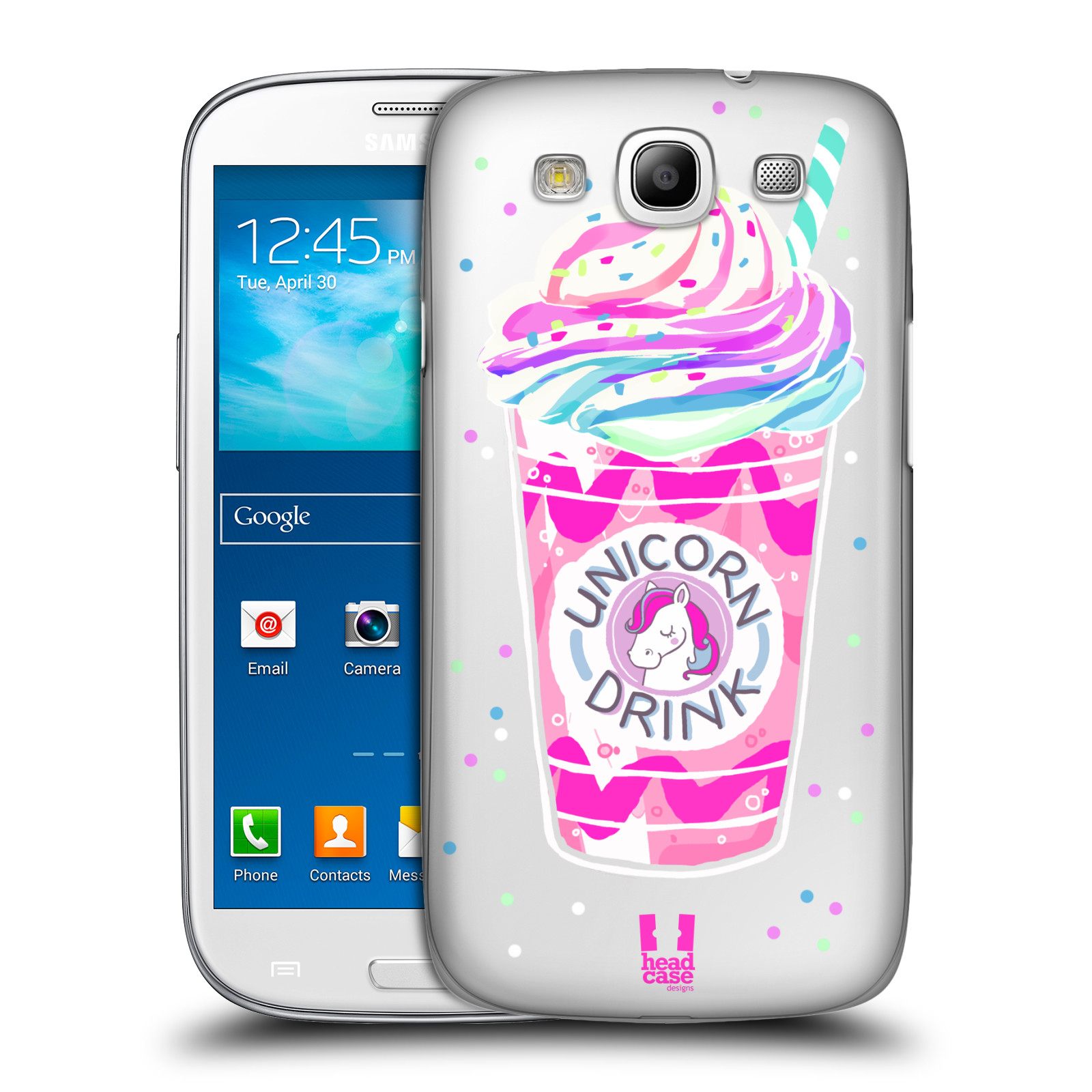 Plastové pouzdro na mobil Samsung Galaxy S3 Neo - Head Case - Unicorn drink