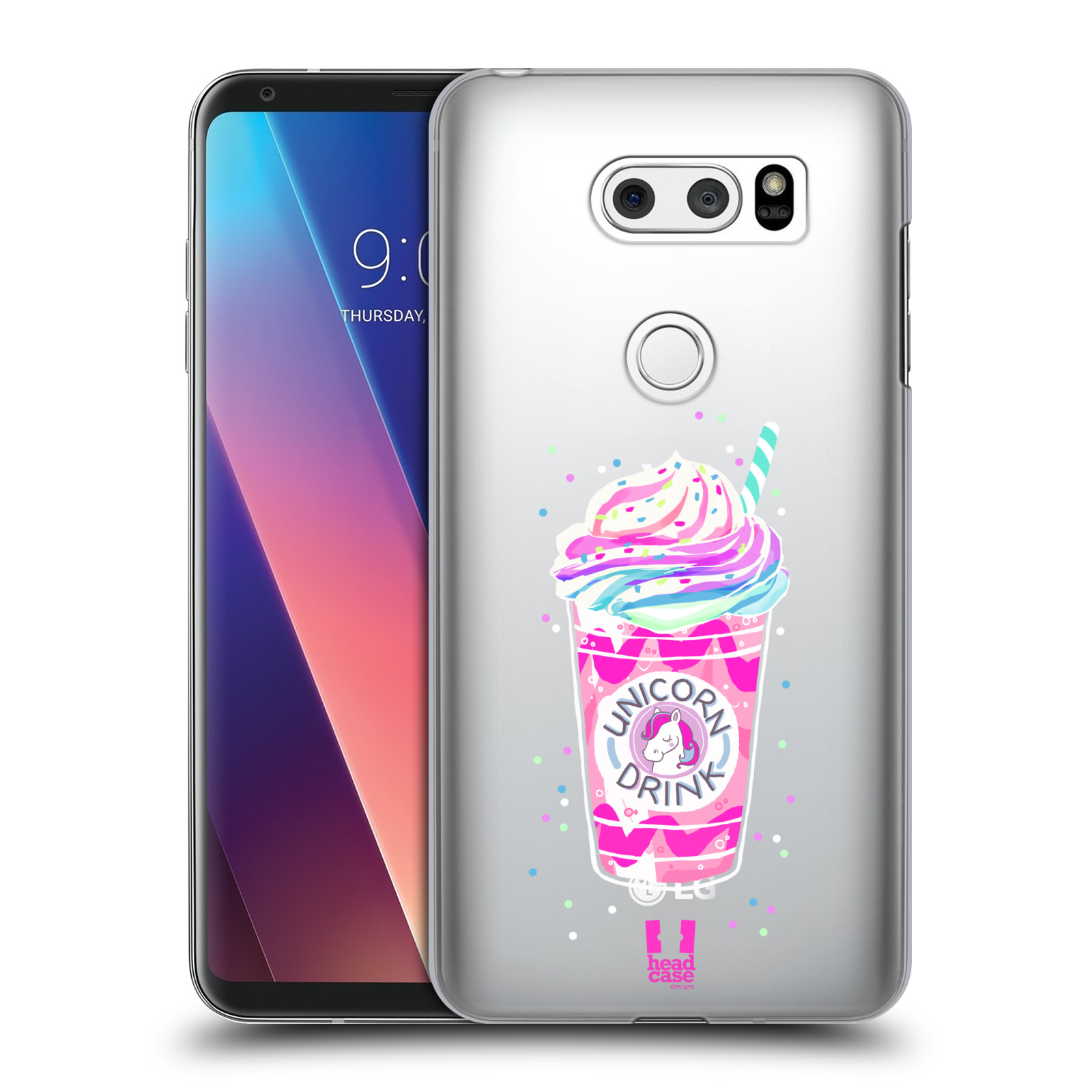 Plastové pouzdro na mobil LG V30 - Head Case - Unicorn drink