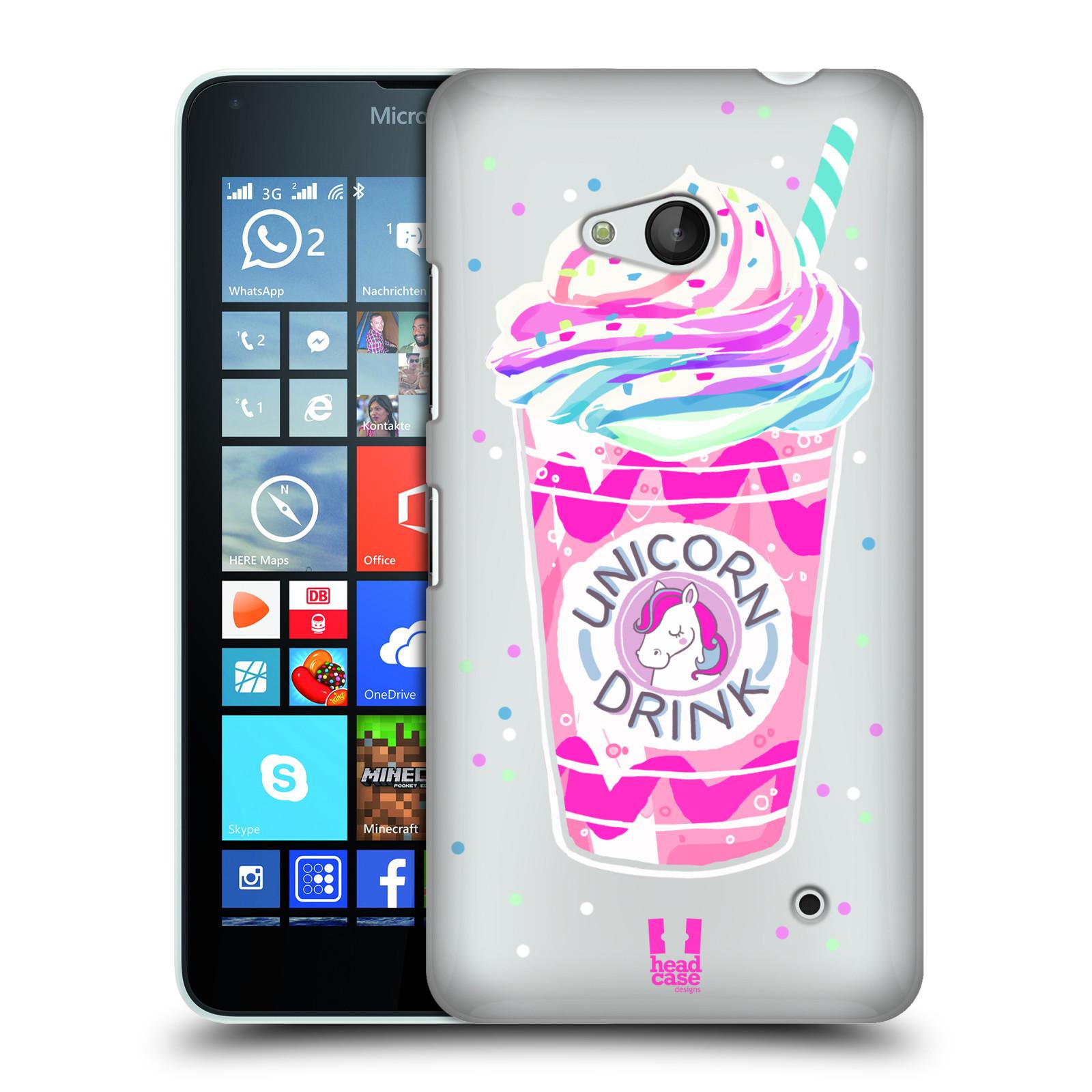 Plastové pouzdro na mobil Microsoft Lumia 640 - Head Case - Unicorn drink