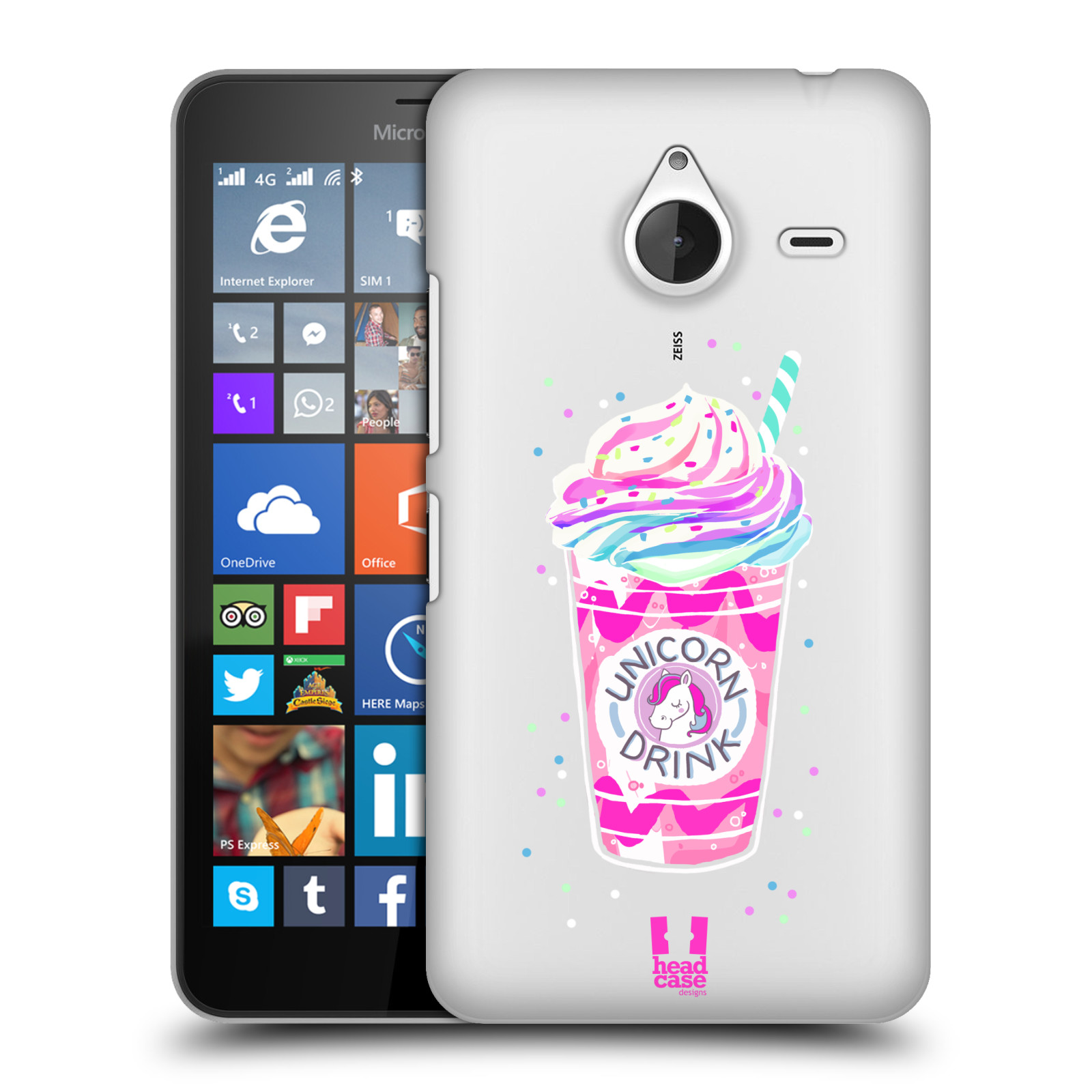 Plastové pouzdro na mobil Microsoft Lumia 640 XL - Head Case - Unicorn drink