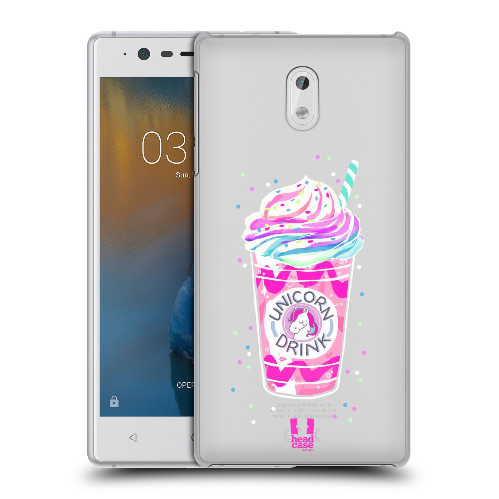 Plastové pouzdro na mobil Nokia 3 Head Case - Unicorn drink