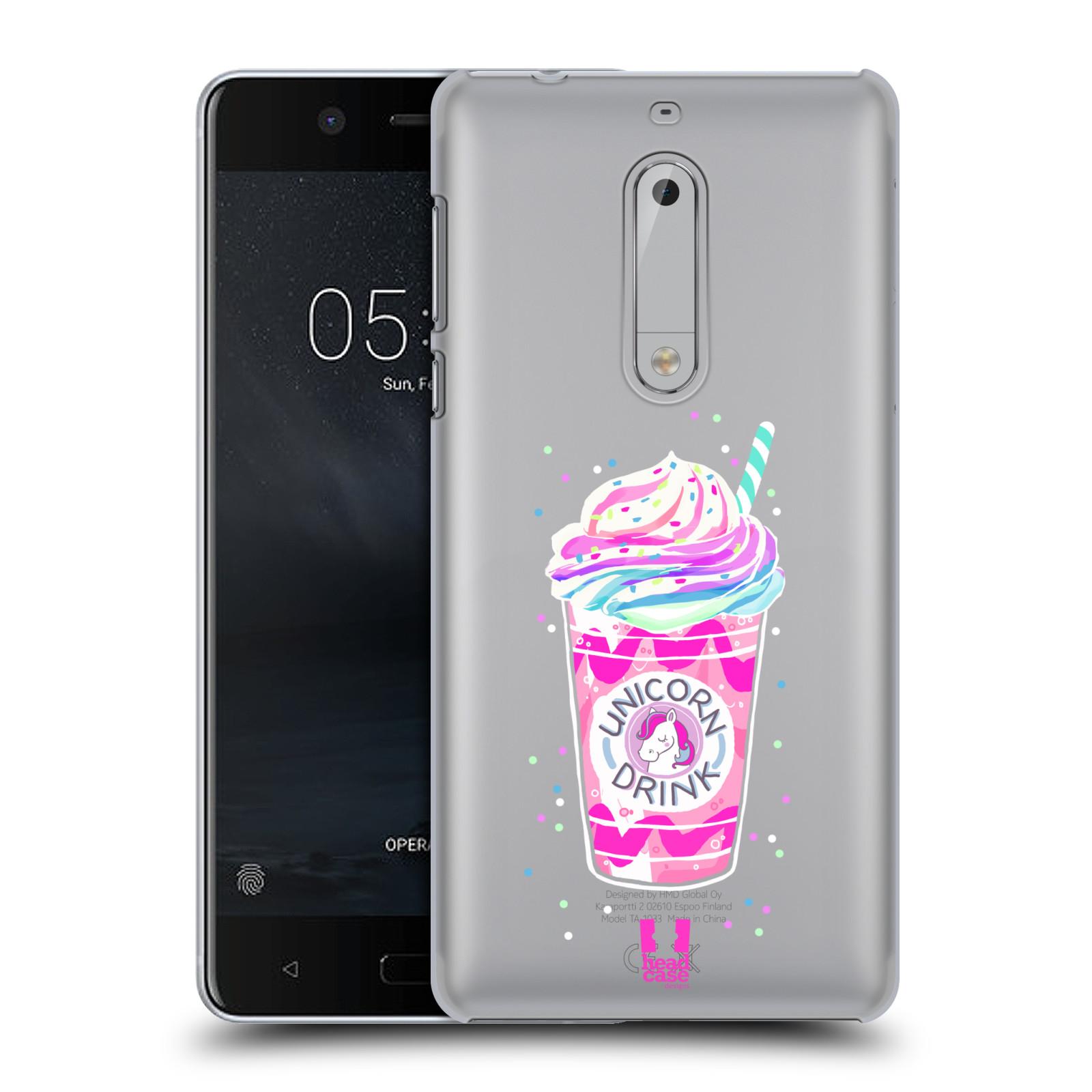 Plastové pouzdro na mobil Nokia 5 Head Case - Unicorn drink
