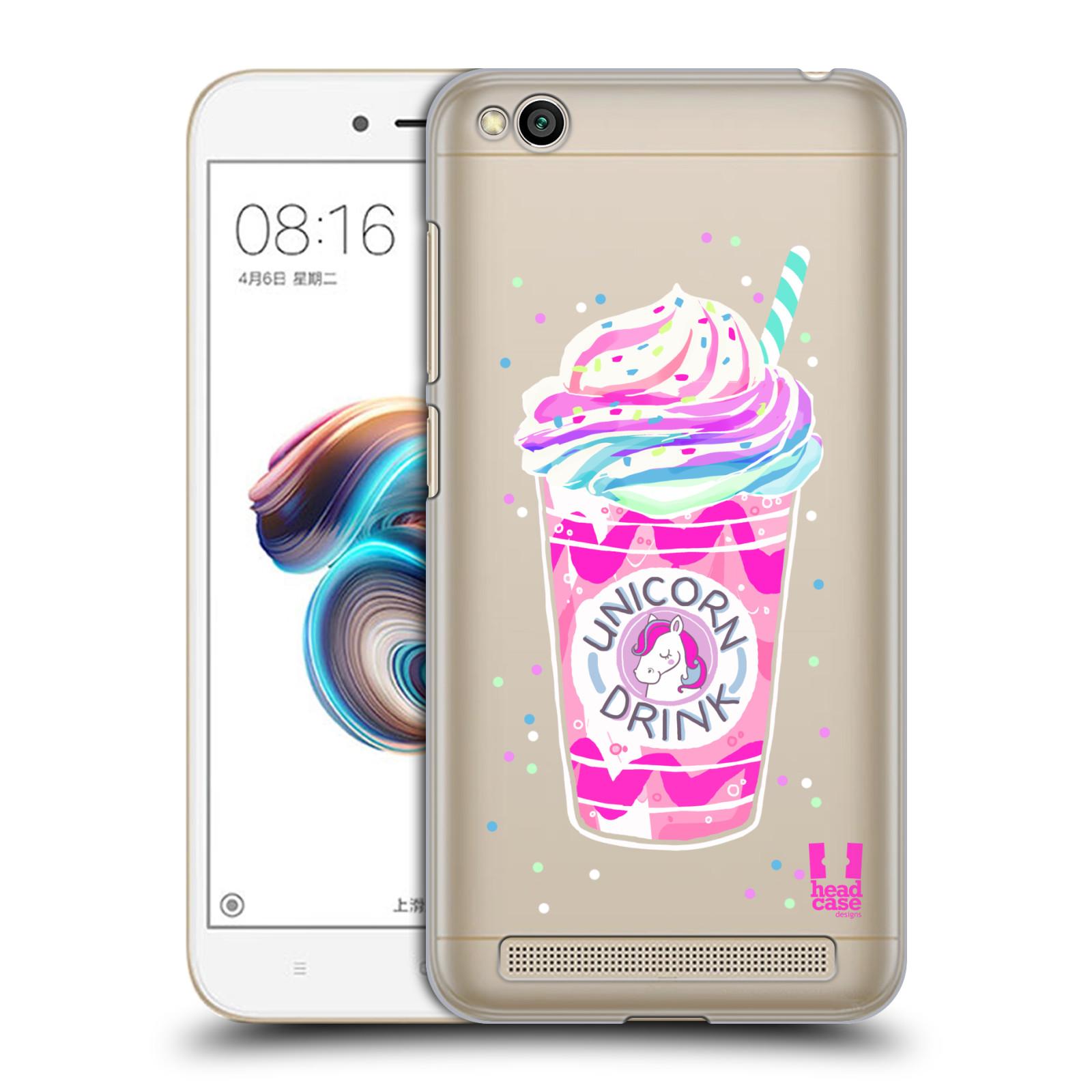 Plastové pouzdro na mobil Xiaomi Redmi 5A Head Case Unicorn drink empty