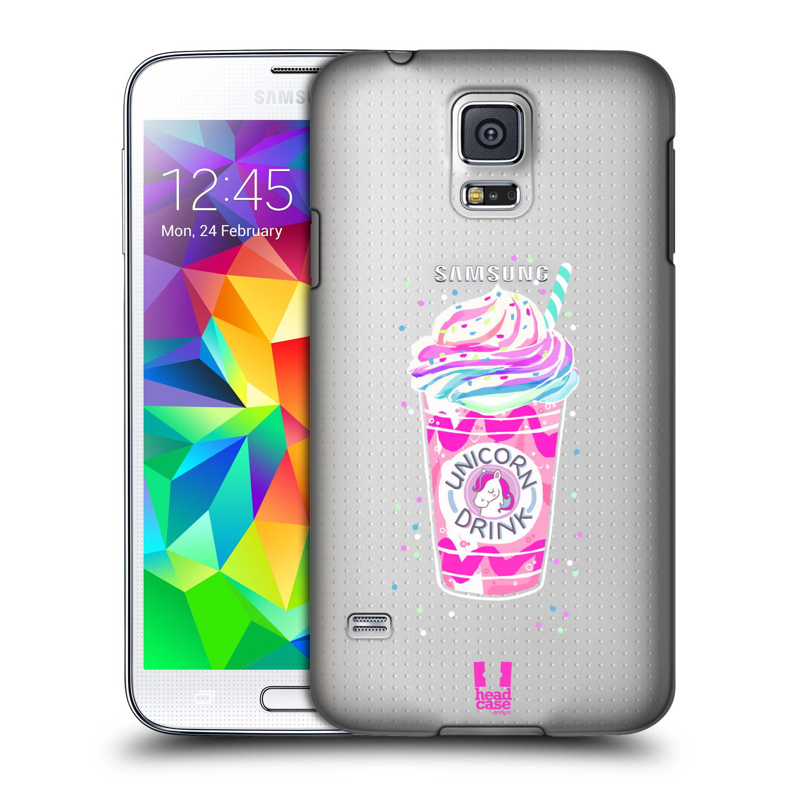 Plastové pouzdro na mobil Samsung Galaxy S5 - Head Case - Unicorn drink
