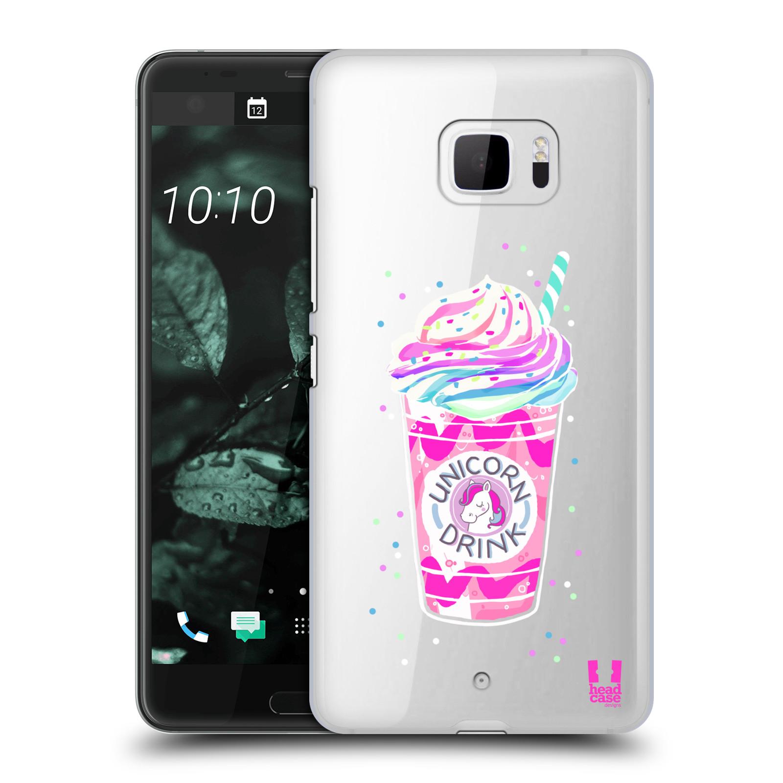 Plastové pouzdro na mobil HTC U Ultra Head Case - Unicorn drink