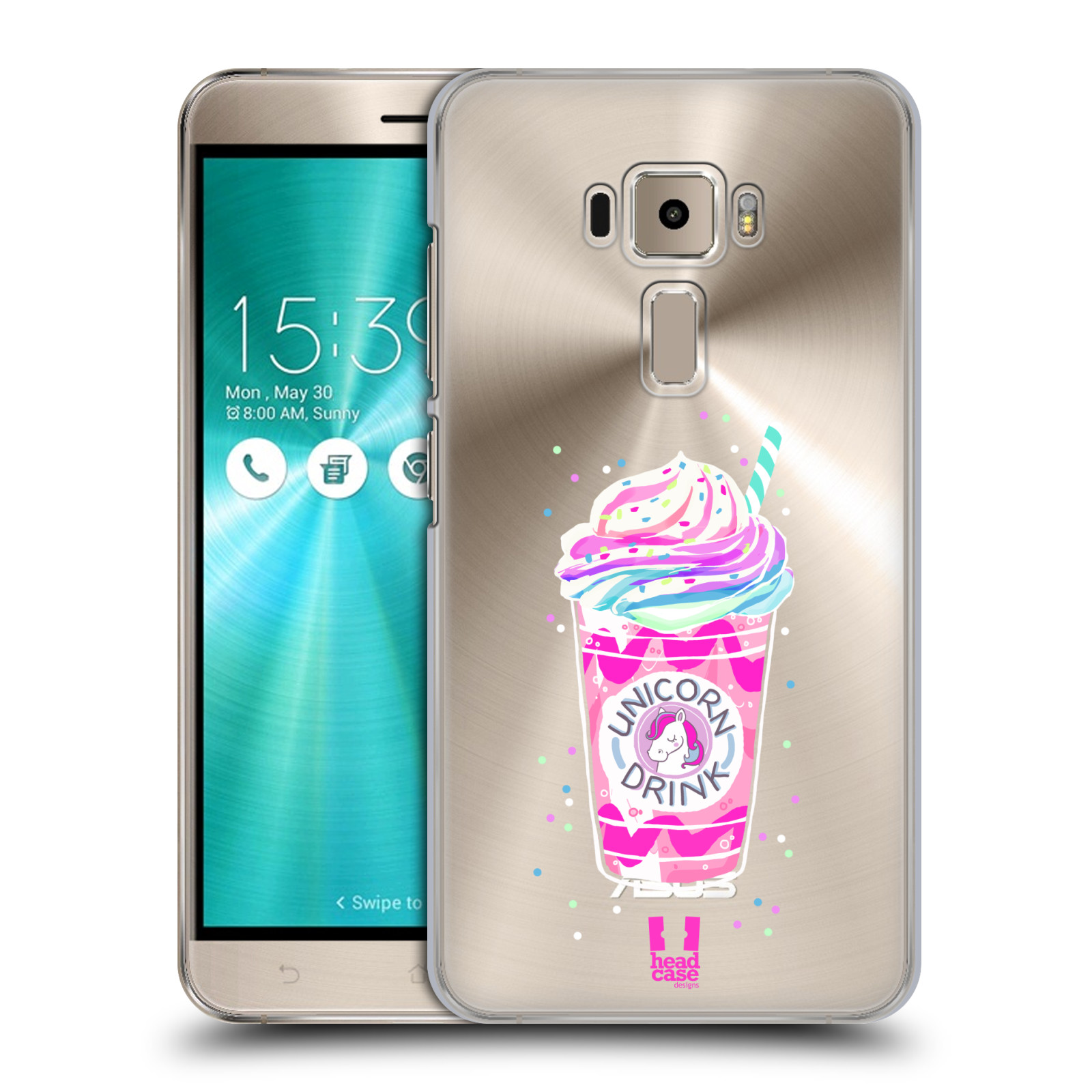 Plastové pouzdro na mobil Asus ZenFone 3 ZE520KL - Head Case - Unicorn drink