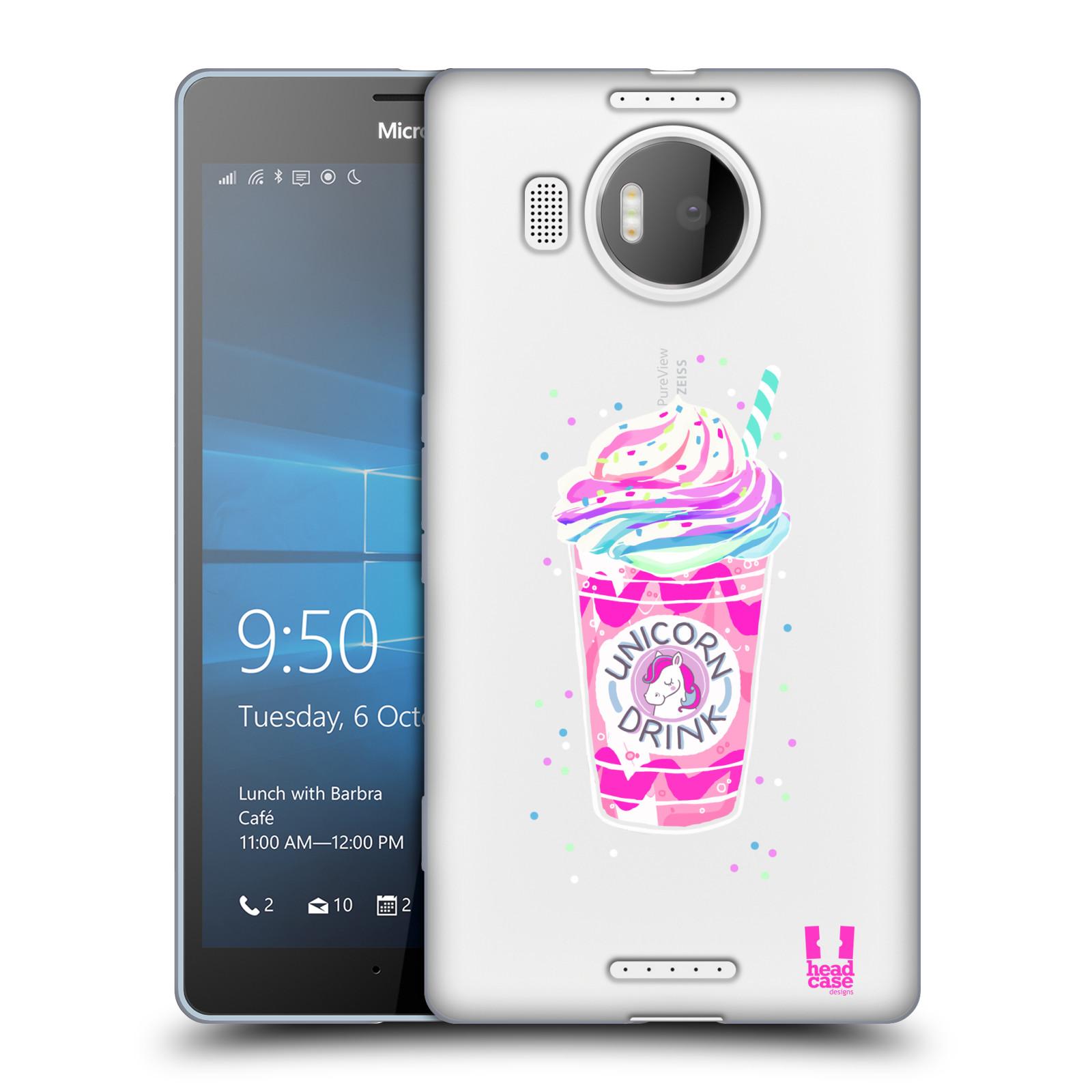 Silikonové pouzdro na mobil Microsoft Lumia 950 XL - Head Case - Unicorn drink