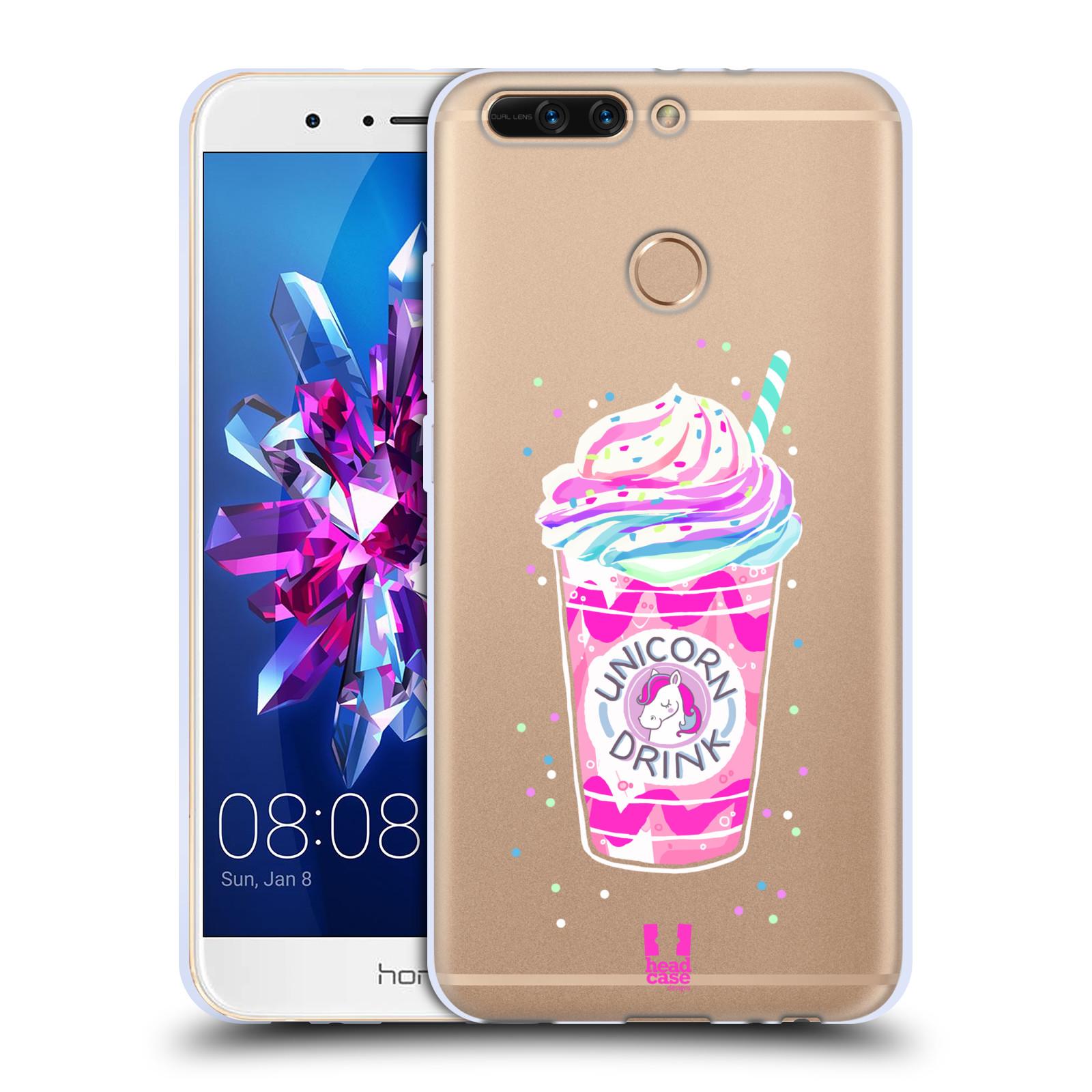 Silikonové pouzdro na mobil Honor 8 Pro - Head Case - Unicorn drink