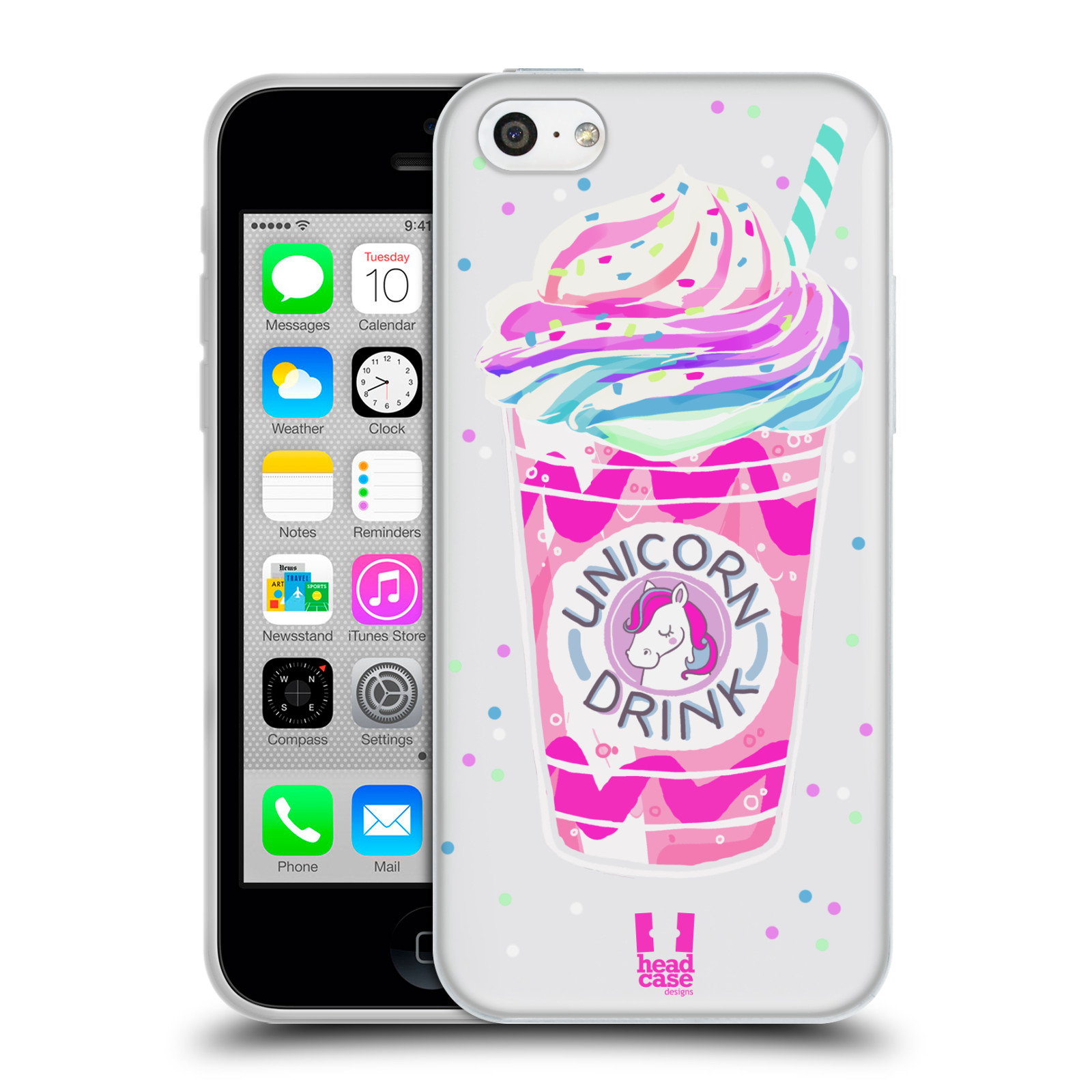 Silikonové pouzdro na mobil Apple iPhone 5C - Head Case - Unicorn drink