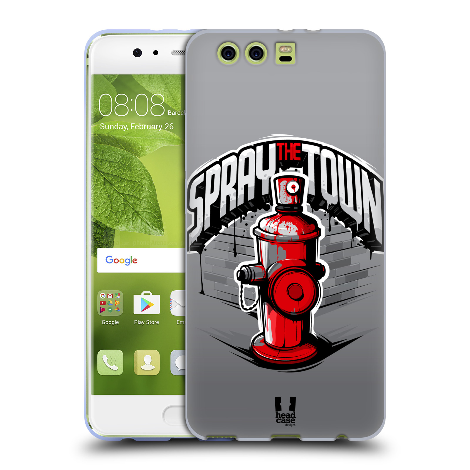 Funda HEAD CASE DESIGNS CON Gel Suave de vibraciones urbano para Huawei P10 Plus