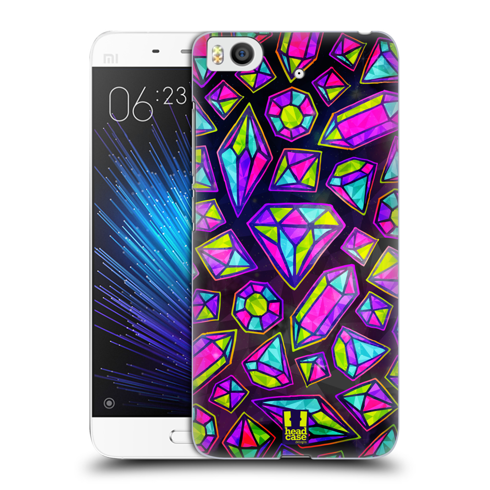 HEAD-CASE-DESIGNS-VIVID-PRINTED-JEWELS-HARD-BACK-CASE-FOR-XIAOMI-Mi-5s