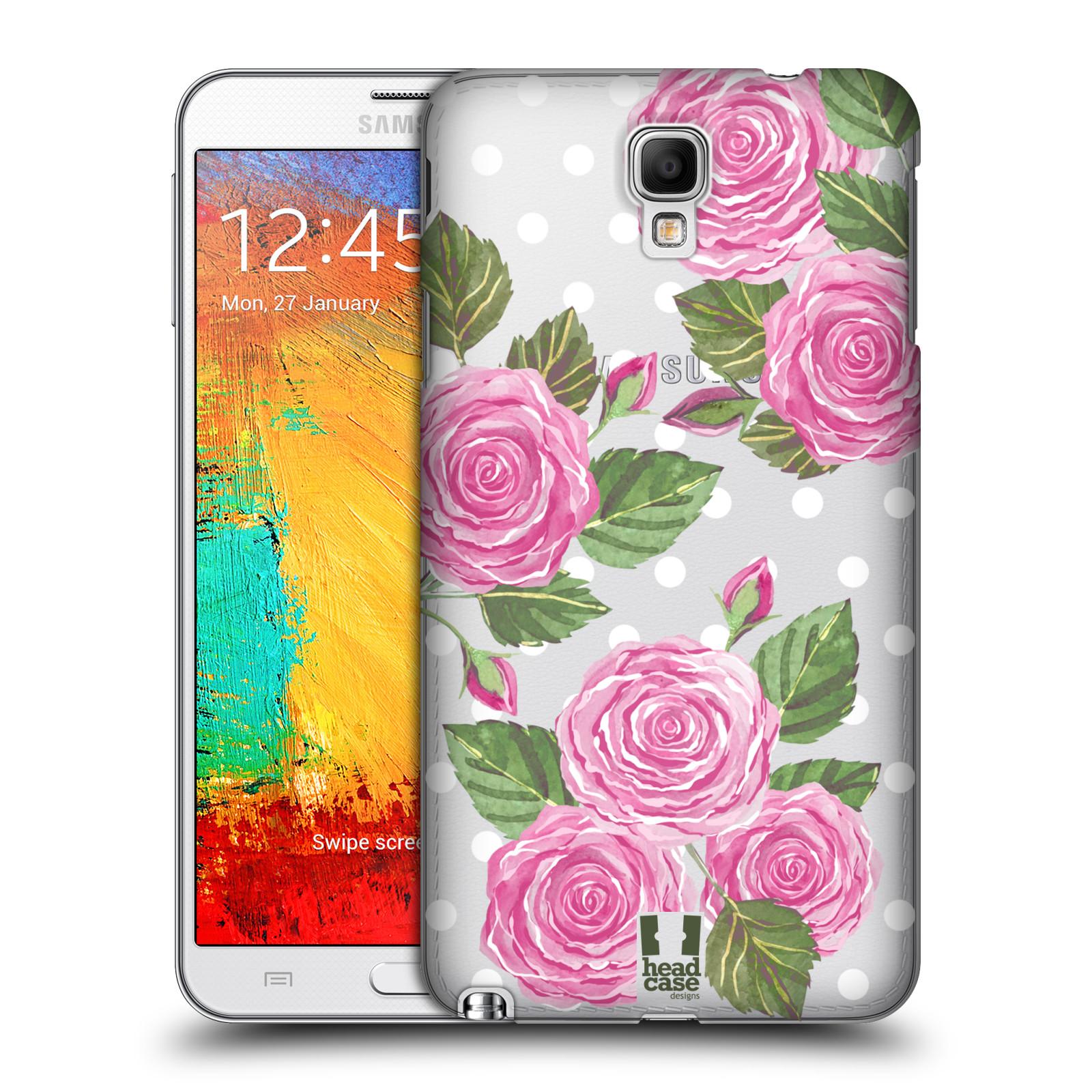 Plastové pouzdro na mobil Samsung Galaxy Note 3 Neo - Head Case - Hezoučké růžičky - průhledné