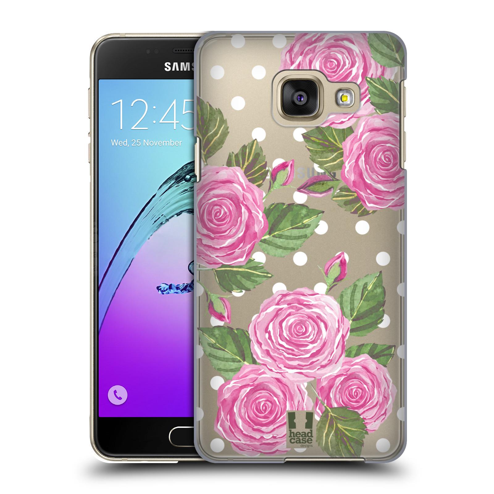 Plastové pouzdro na mobil Samsung Galaxy A3 (2016) - Head Case - Hezoučké růžičky - průhledné