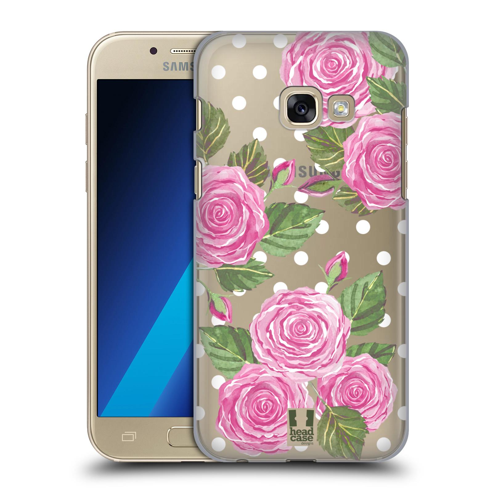 Plastové pouzdro na mobil Samsung Galaxy A3 (2017) - Head Case - Hezoučké růžičky - průhledné