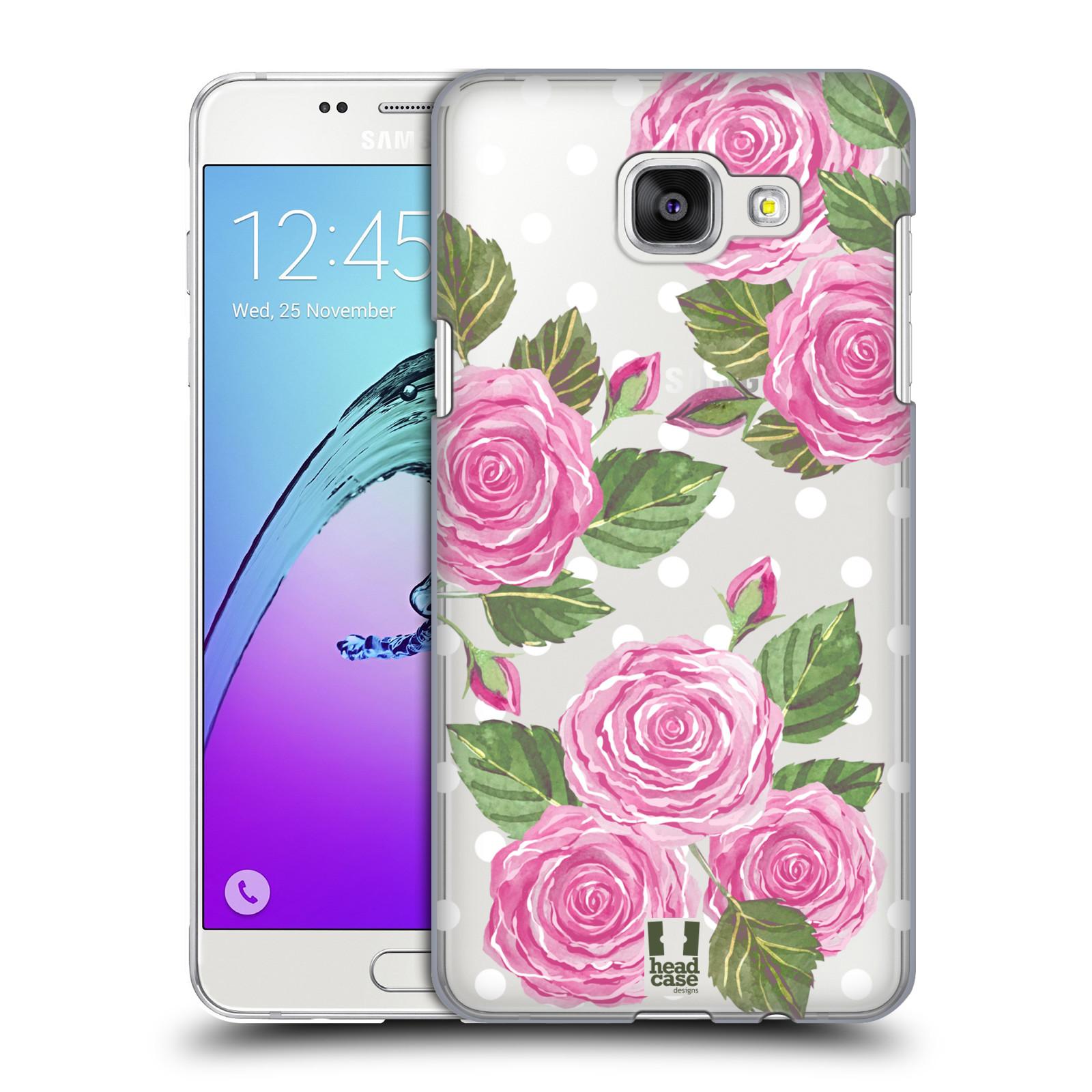 Plastové pouzdro na mobil Samsung Galaxy A5 (2016) - Head Case - Hezoučké růžičky - průhledné