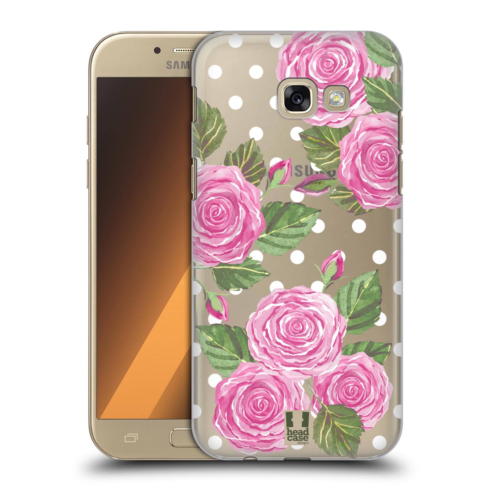 Plastové pouzdro na mobil Samsung Galaxy A5 (2017) - Head Case - Hezoučké růžičky - průhledné