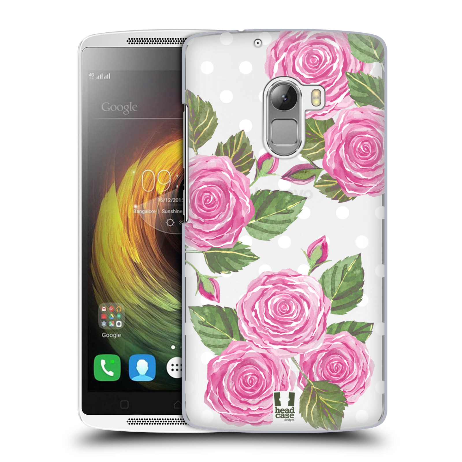 Plastové pouzdro na mobil Lenovo A7010 - Head Case - Hezoučké růžičky - průhledné