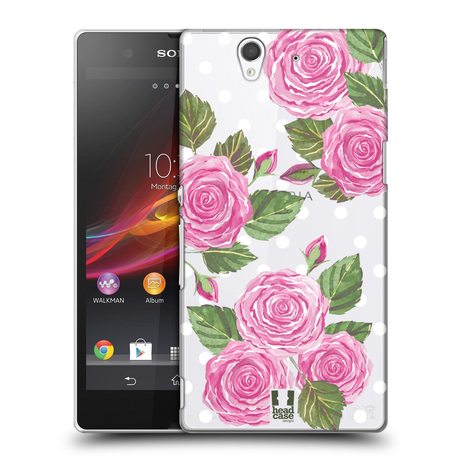 Plastové pouzdro na mobil Sony Xperia Z C6603 - Head Case - Hezoučké růžičky - průhledné