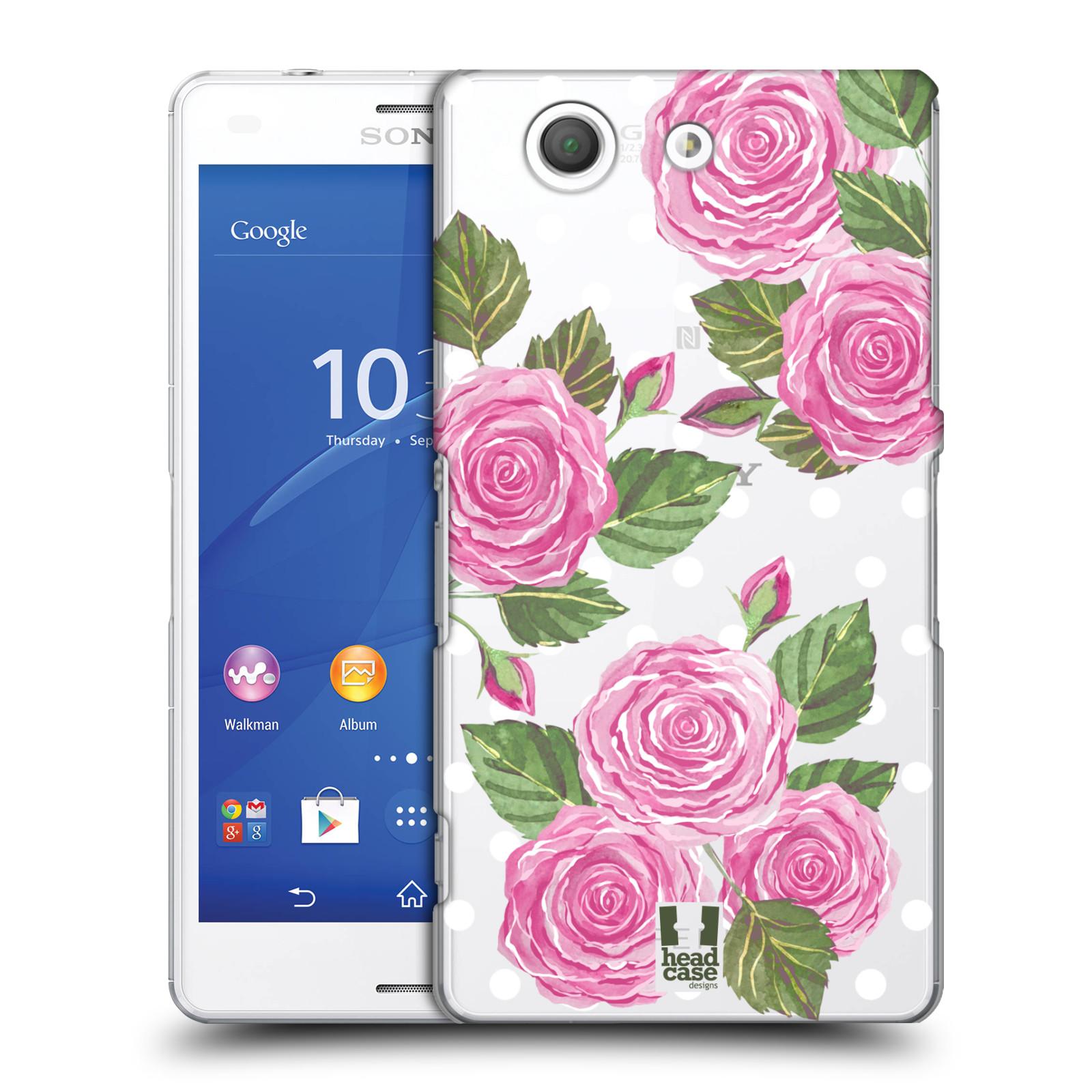 Plastové pouzdro na mobil Sony Xperia Z3 Compact D5803 - Head Case - Hezoučké růžičky - průhledné