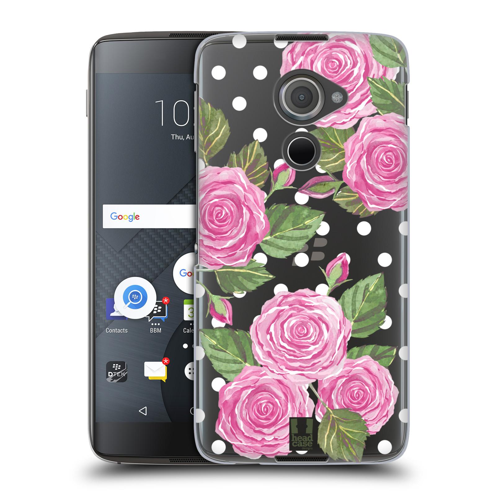 Plastové pouzdro na mobil Blackberry DTEK60 (Argon) - Head Case - Hezoučké růžičky - průhledné