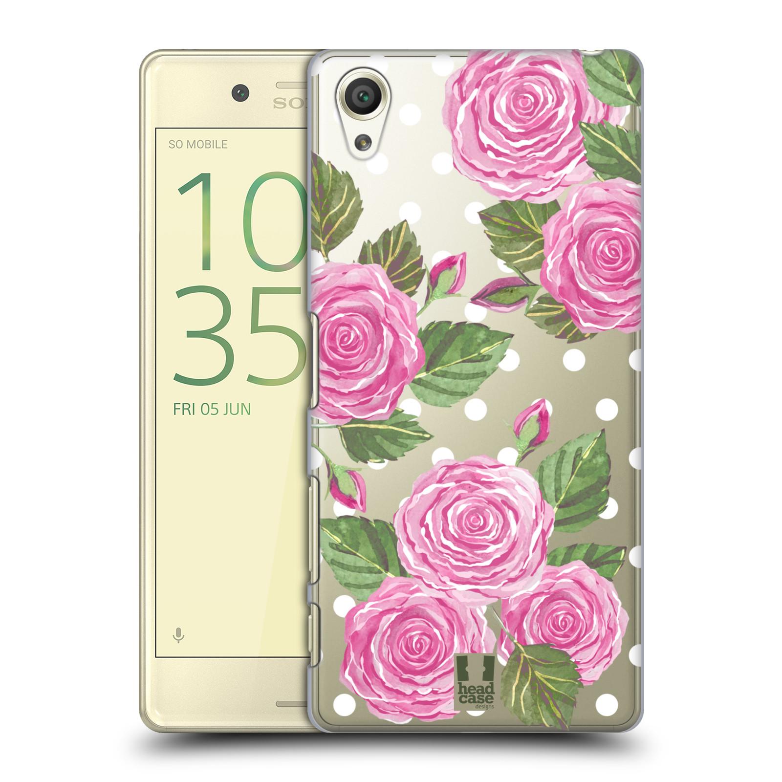 Plastové pouzdro na mobil Sony Xperia X - Head Case - Hezoučké růžičky - průhledné