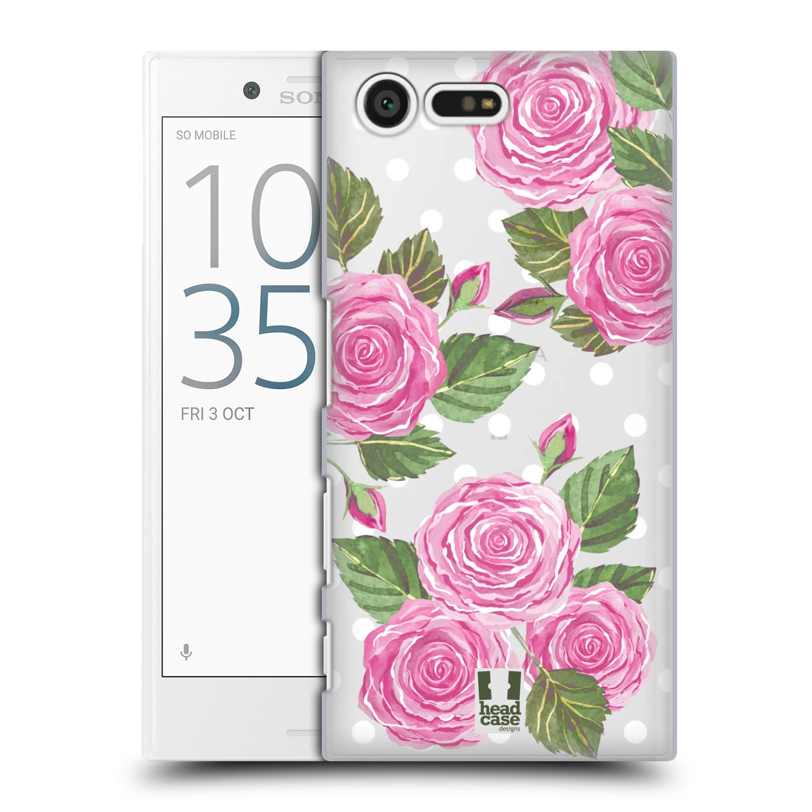 Plastové pouzdro na mobil Sony Xperia X Compact - Head Case - Hezoučké růžičky - průhledné