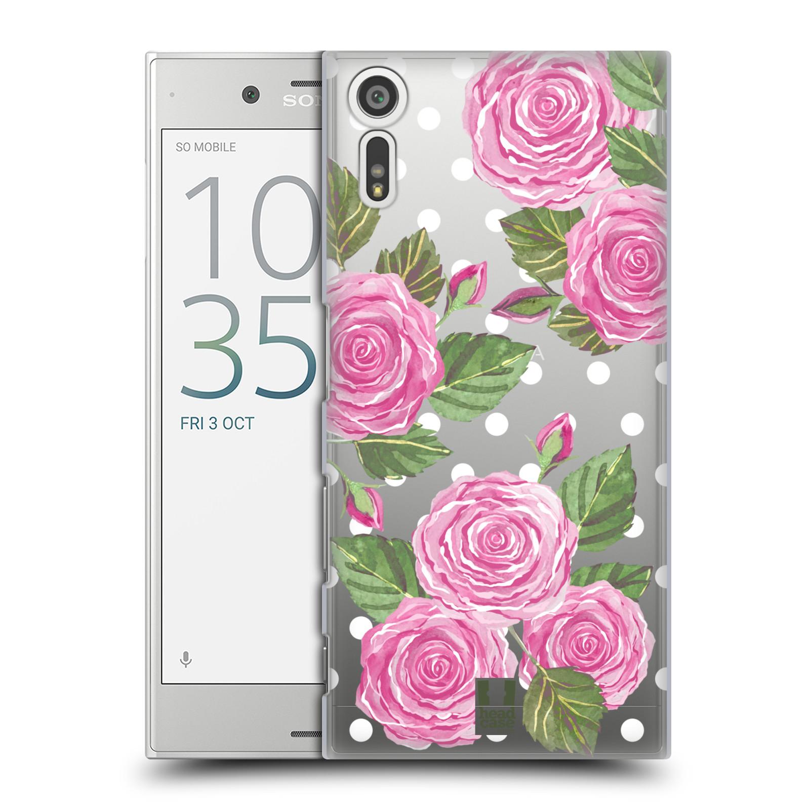 Plastové pouzdro na mobil Sony Xperia XZ - Head Case - Hezoučké růžičky - průhledné