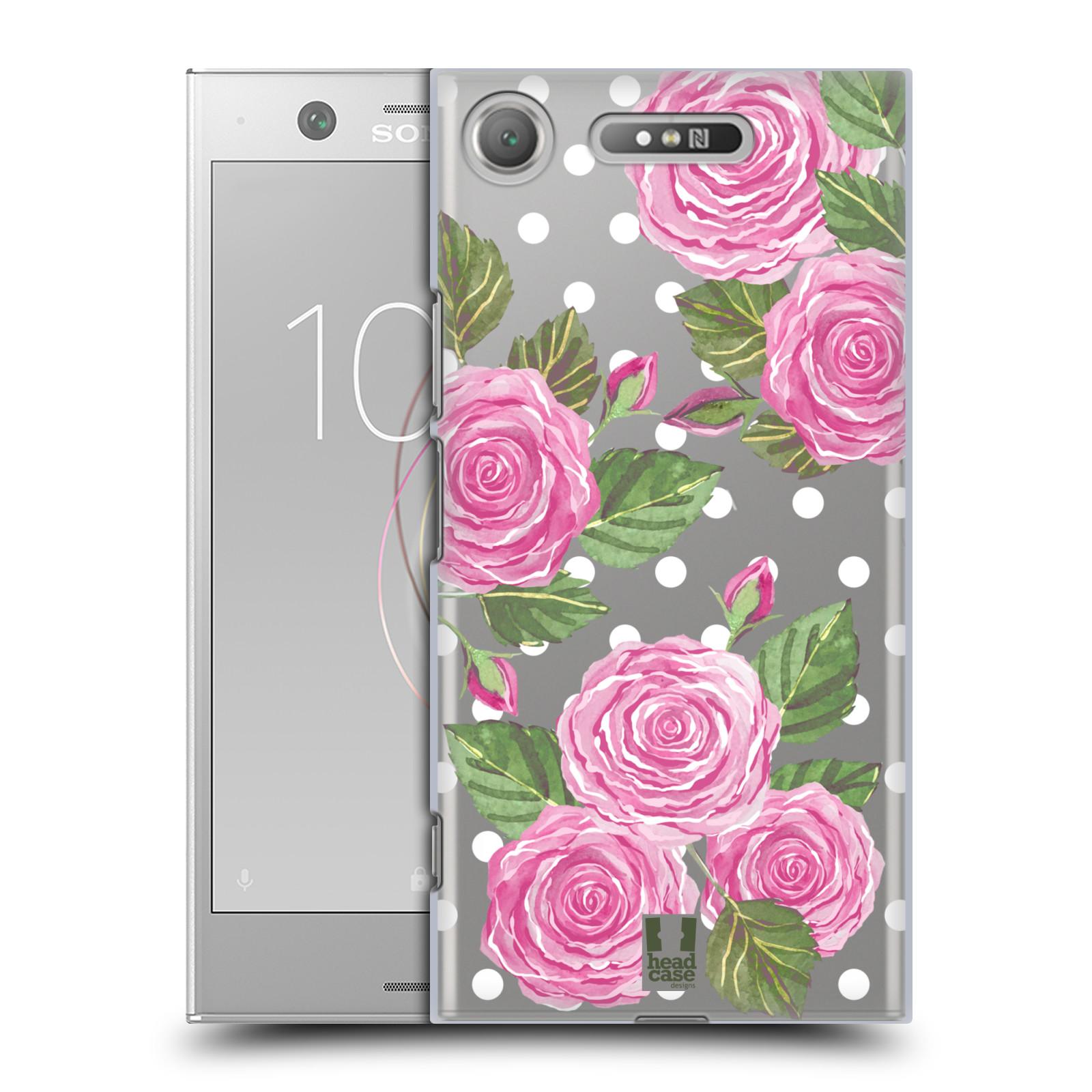Plastové pouzdro na mobil Sony Xperia XZ1 - Head Case - Hezoučké růžičky - průhledné