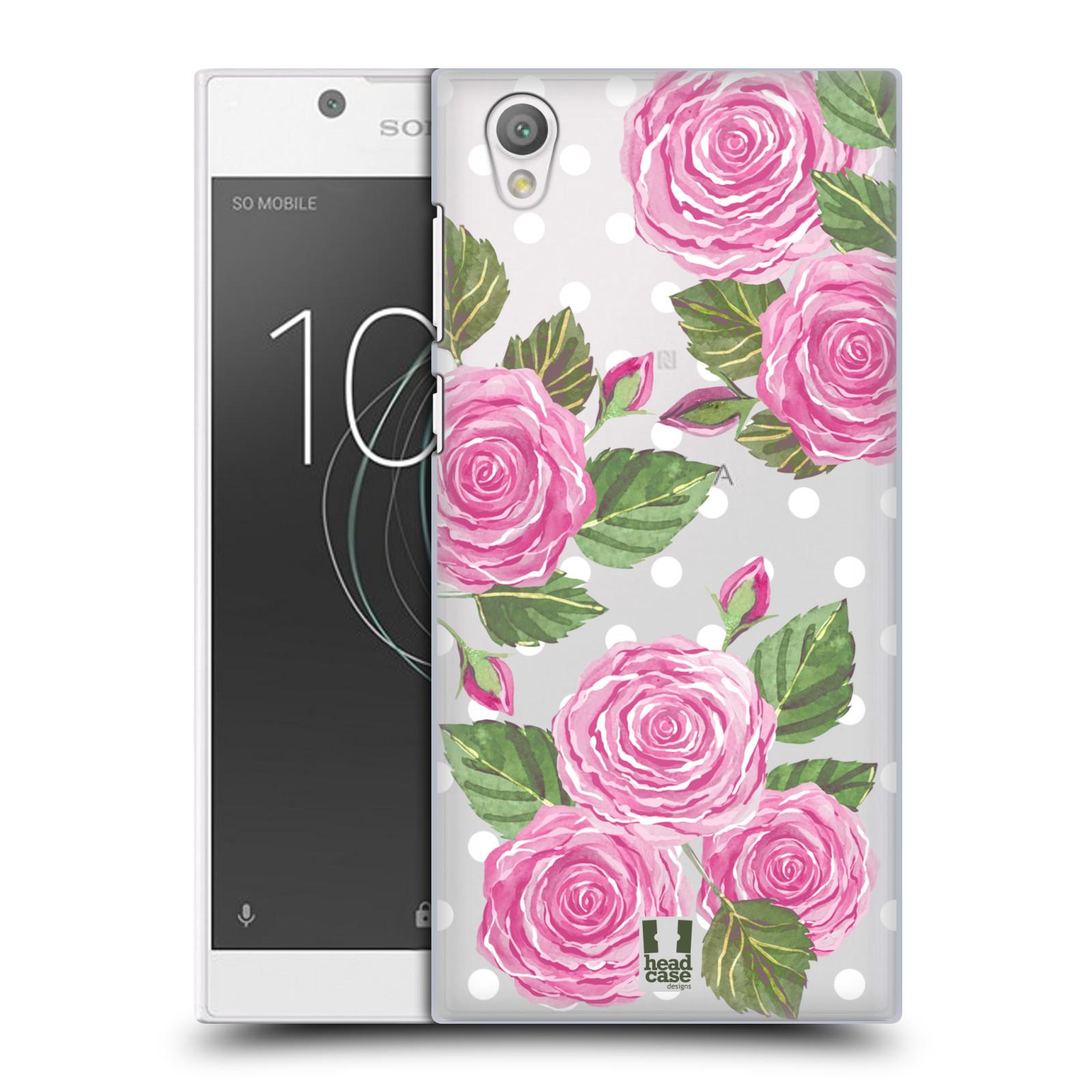 Plastové pouzdro na mobil Sony Xperia L1 - Head Case - Hezoučké růžičky - průhledné