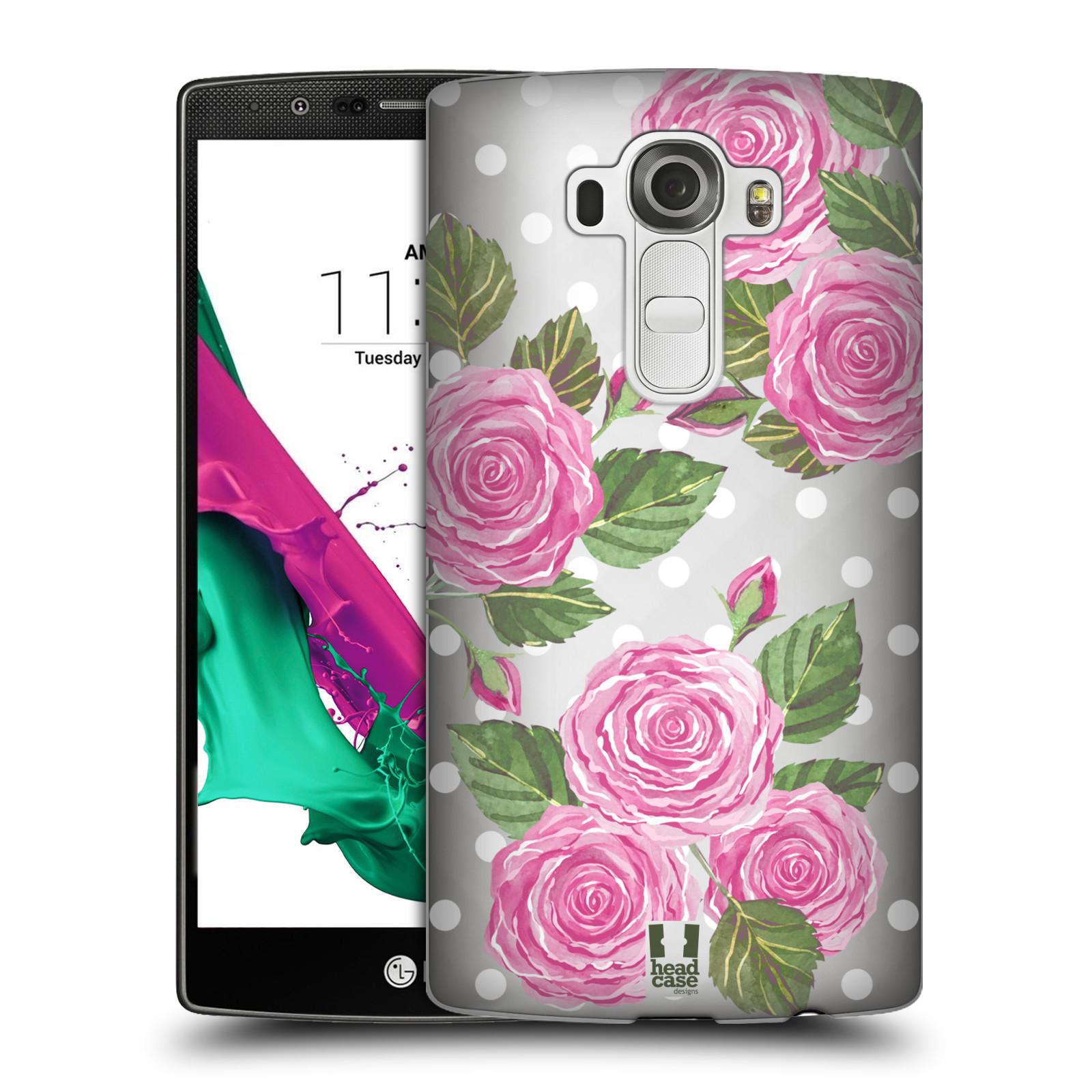 Plastové pouzdro na mobil LG G4 - Head Case - Hezoučké růžičky - průhledné