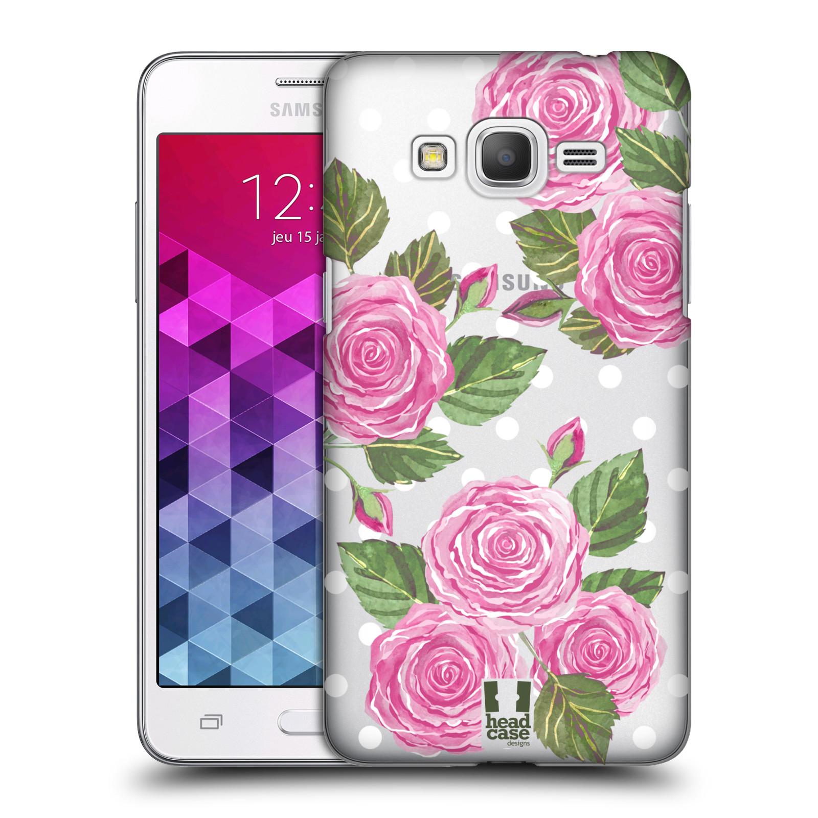 Plastové pouzdro na mobil Samsung Galaxy Grand Prime - Head Case - Hezoučké růžičky - průhledné
